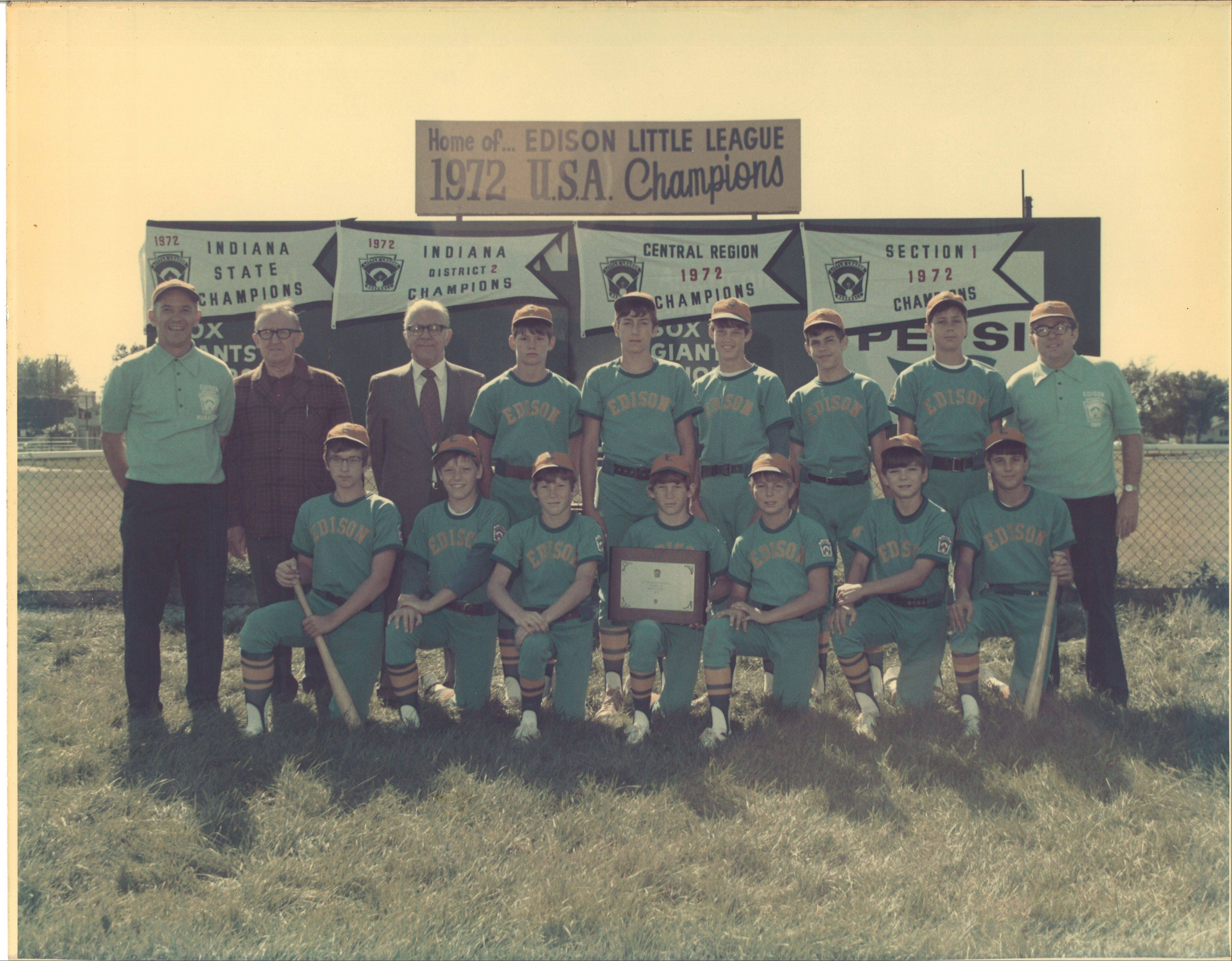 The story begins in 1972 when Coach Tom Vargulich, far left in back row, and his son Peter, second from left in first row, make it to the championship game of the Little League Baseball World Series in Williamsport, Pa. Spanning three generations and four decades, the latest chapter was written Saturday as 16-year-old Tommy Vargulich played on the same field in a special exhibition game for kids with developmental and physical disabilities.
