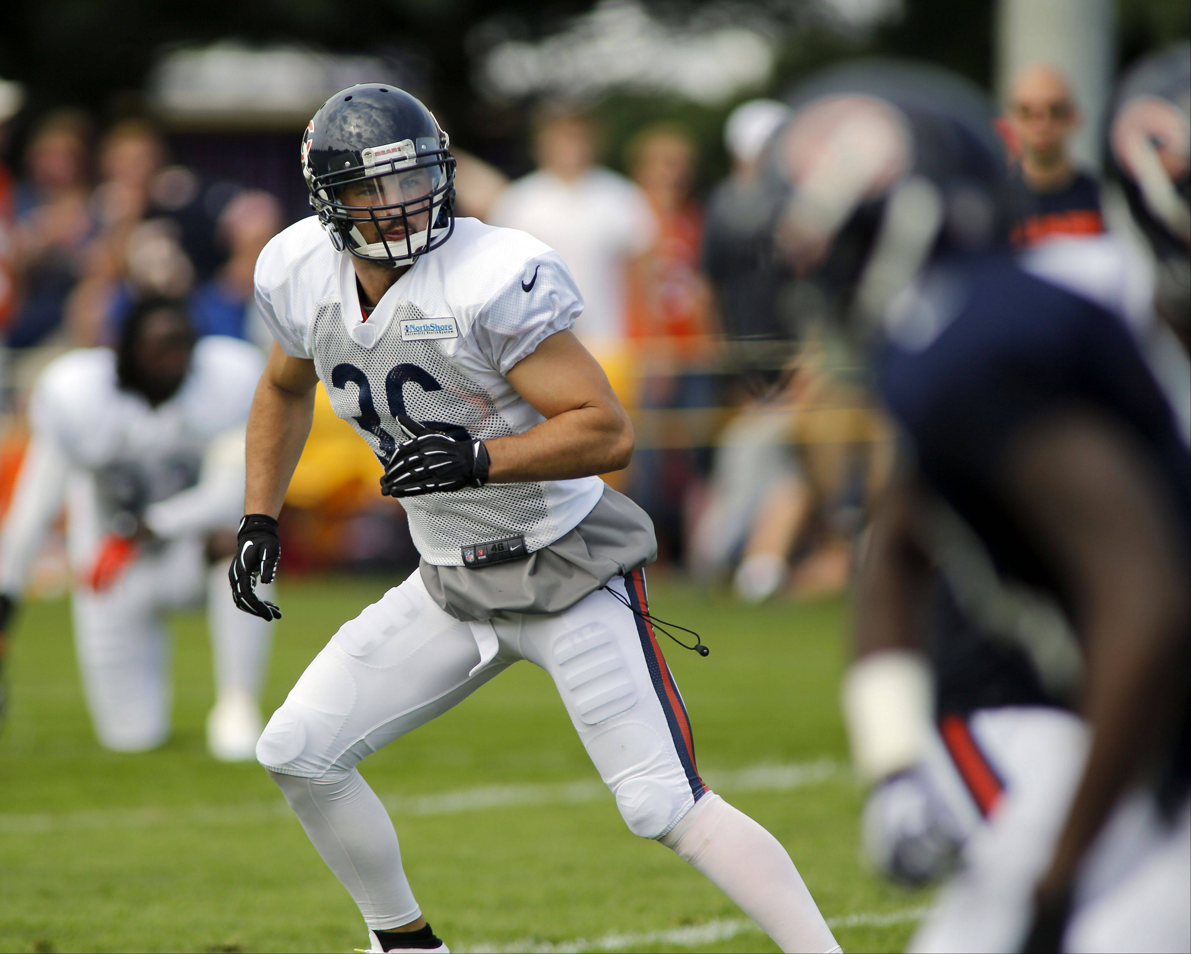The Bears released veteran strong safety Tom Zbikowski (36) on Sunday, cutting the team's roster to 76. Zbikowski, a Buffalo Grove High School product who has played for Baltimore and Indianapolis, is free to sign with other NFL teams.