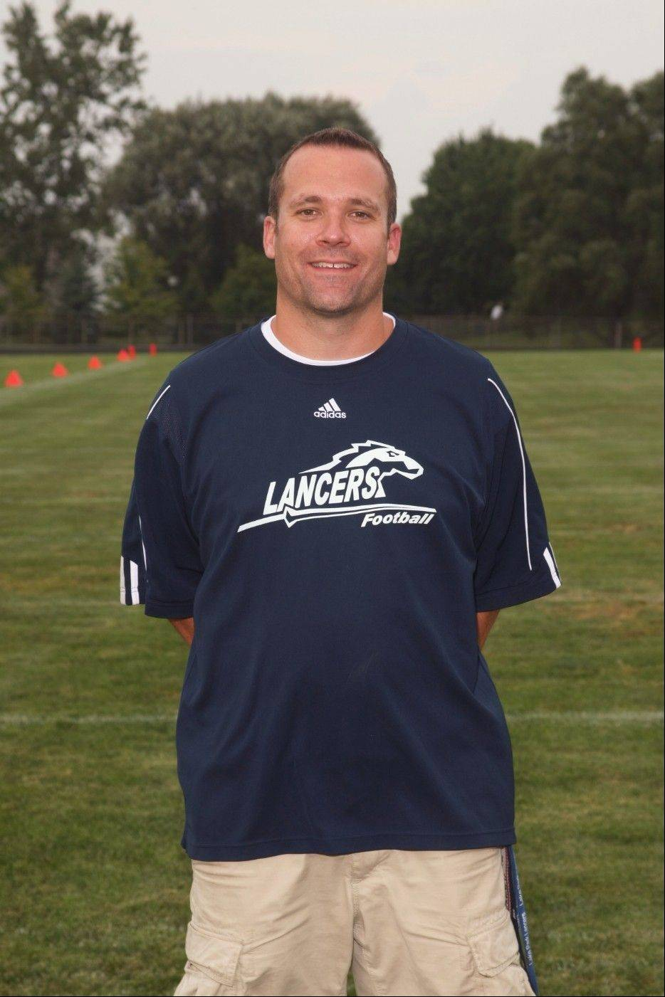 Lake Park football coach Chris Roll