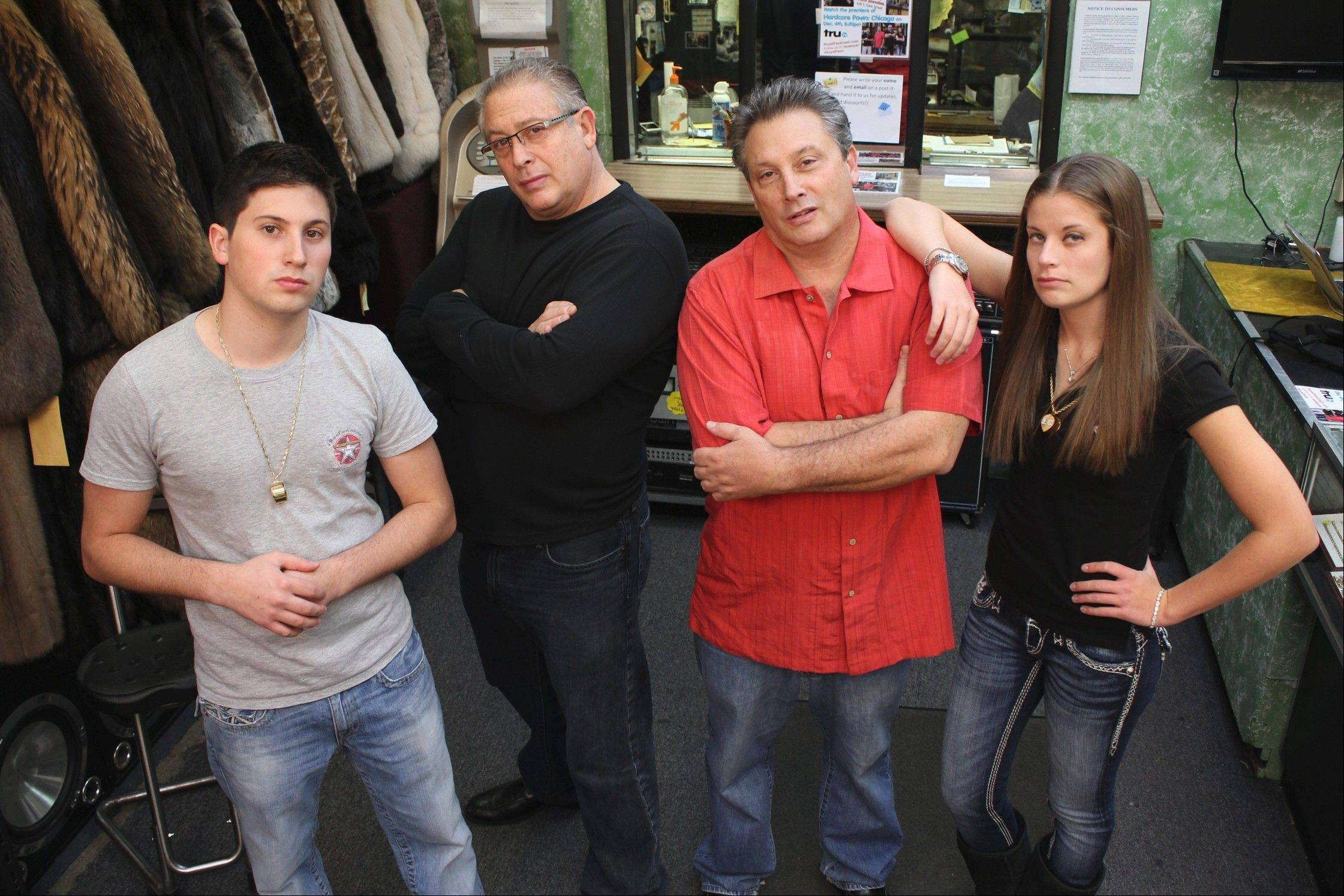 COURTESY OF MICHAEL WEBDELL/AMERICAN MASS MEDIAHardcore Pawn: Chicago stars include Nathan Cohen (Wayne's Son), from left, co-owner Randy Cohen, co-owner Wayne Cohen and Elyse Cohen (Randy's daughter).