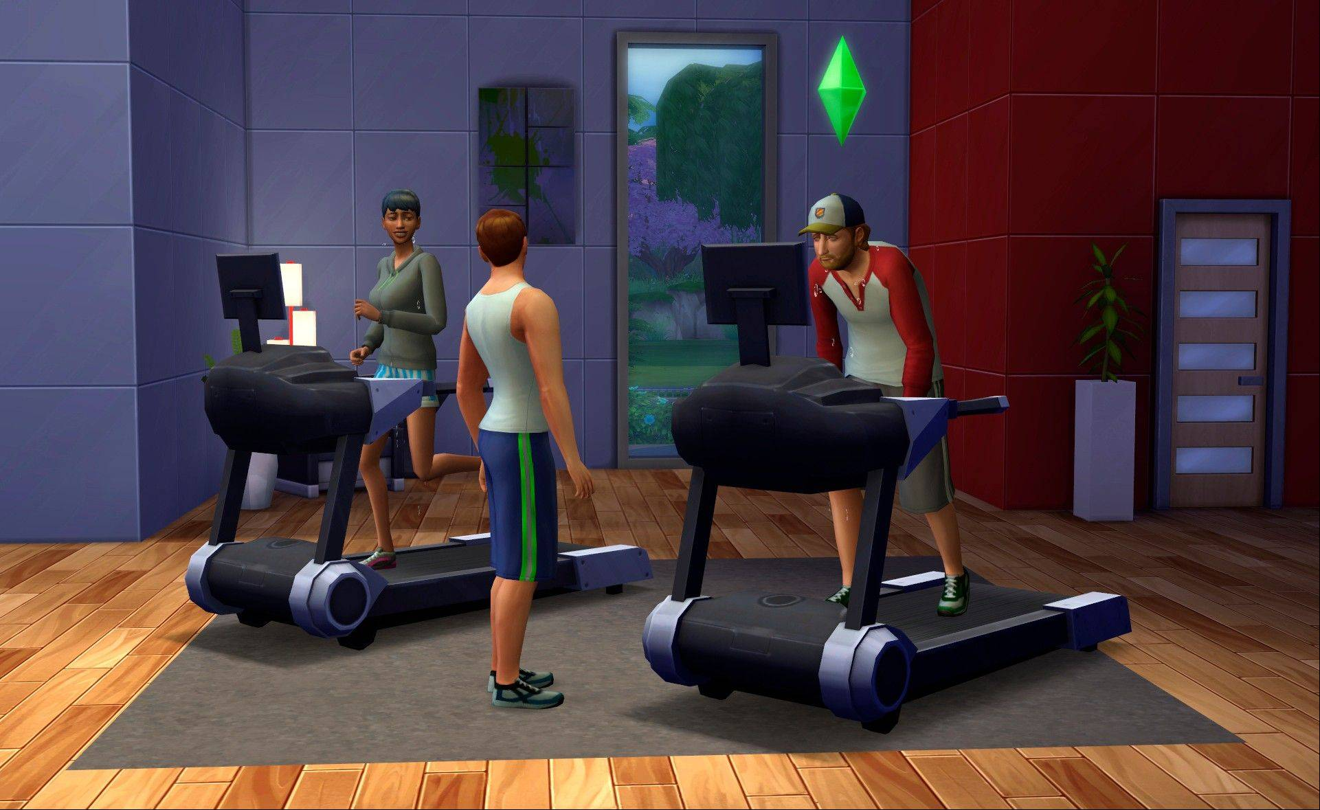 "Developers have focused on crafting more believable Sims who can perform multiple actions -- like walking and talking -- at once in ""The Sims 4."""