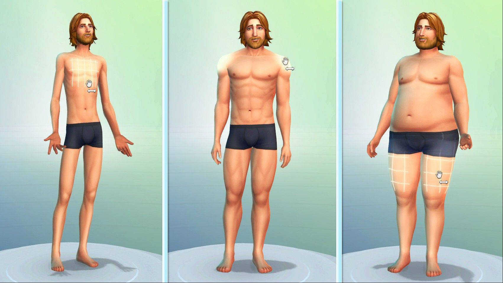 """The Sims 4"" includes 18 touch points on the Sims' bodies, which can be sculpted to create custom faces and physiques."