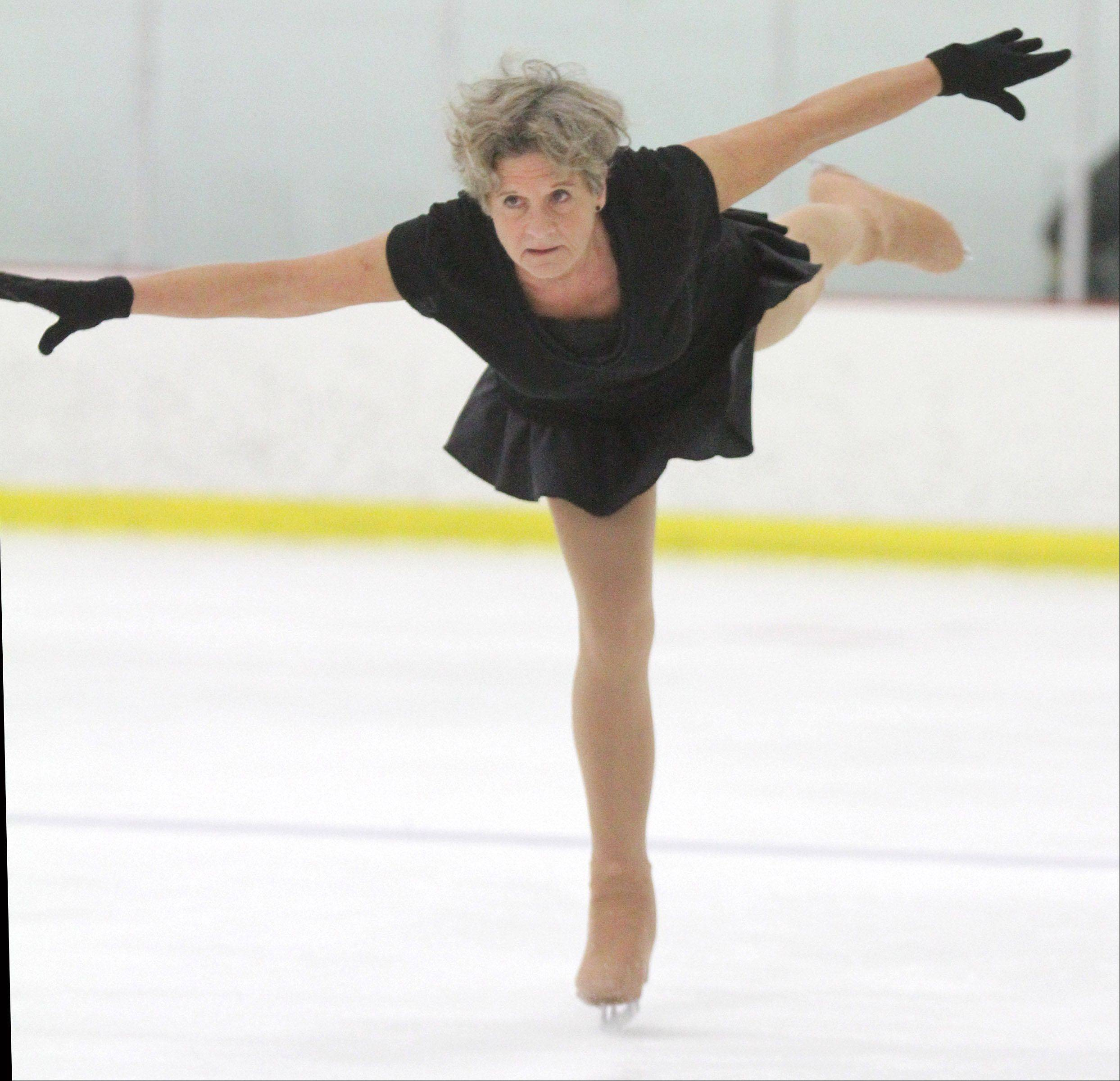 Gabler's poise on the ice won her the gold medal in the recent Chicago Open competition for adults.