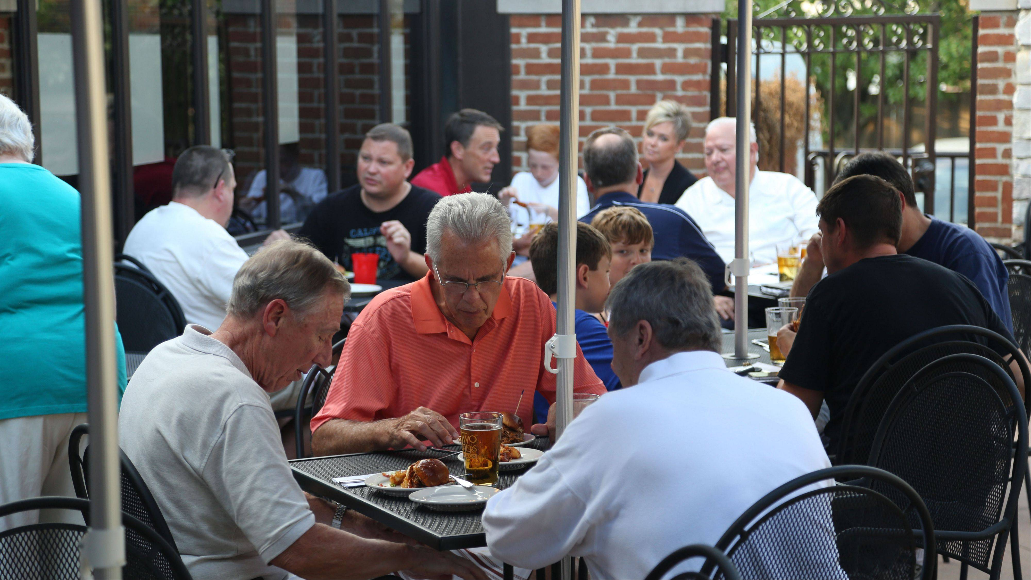 Subscribers participate in a Fantasy Football preview event Monday hosted by Daily Herald columnist John Dietz, Bears beat writer Bob LeGere and sports writer Joe Aguilar at Rack House Kitchen and Tavern in Arlington Heights.