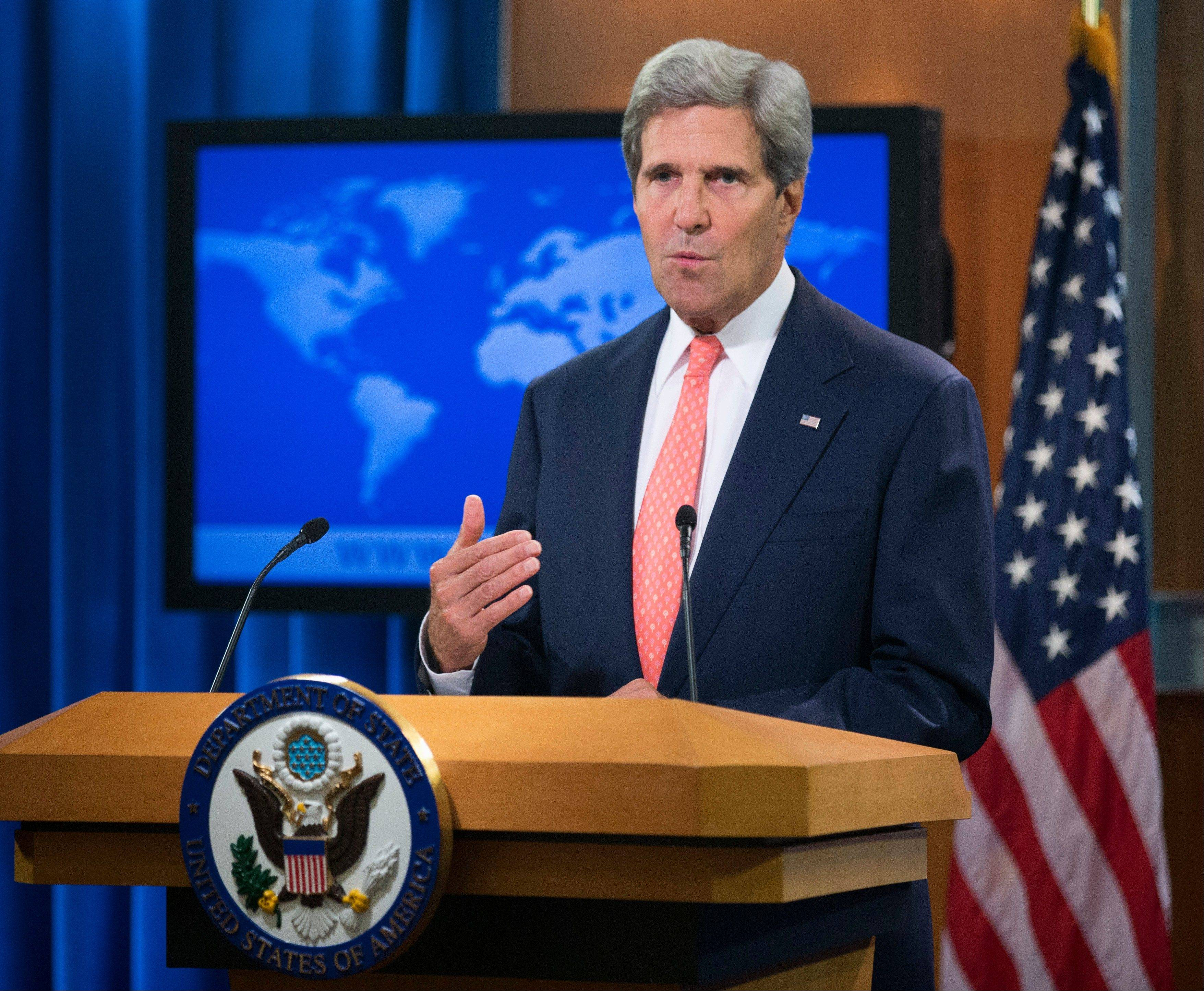 Secretary of State John Kerry said Monday that chemical weapons were used in Syria and accused Assad of destroying the evidence.