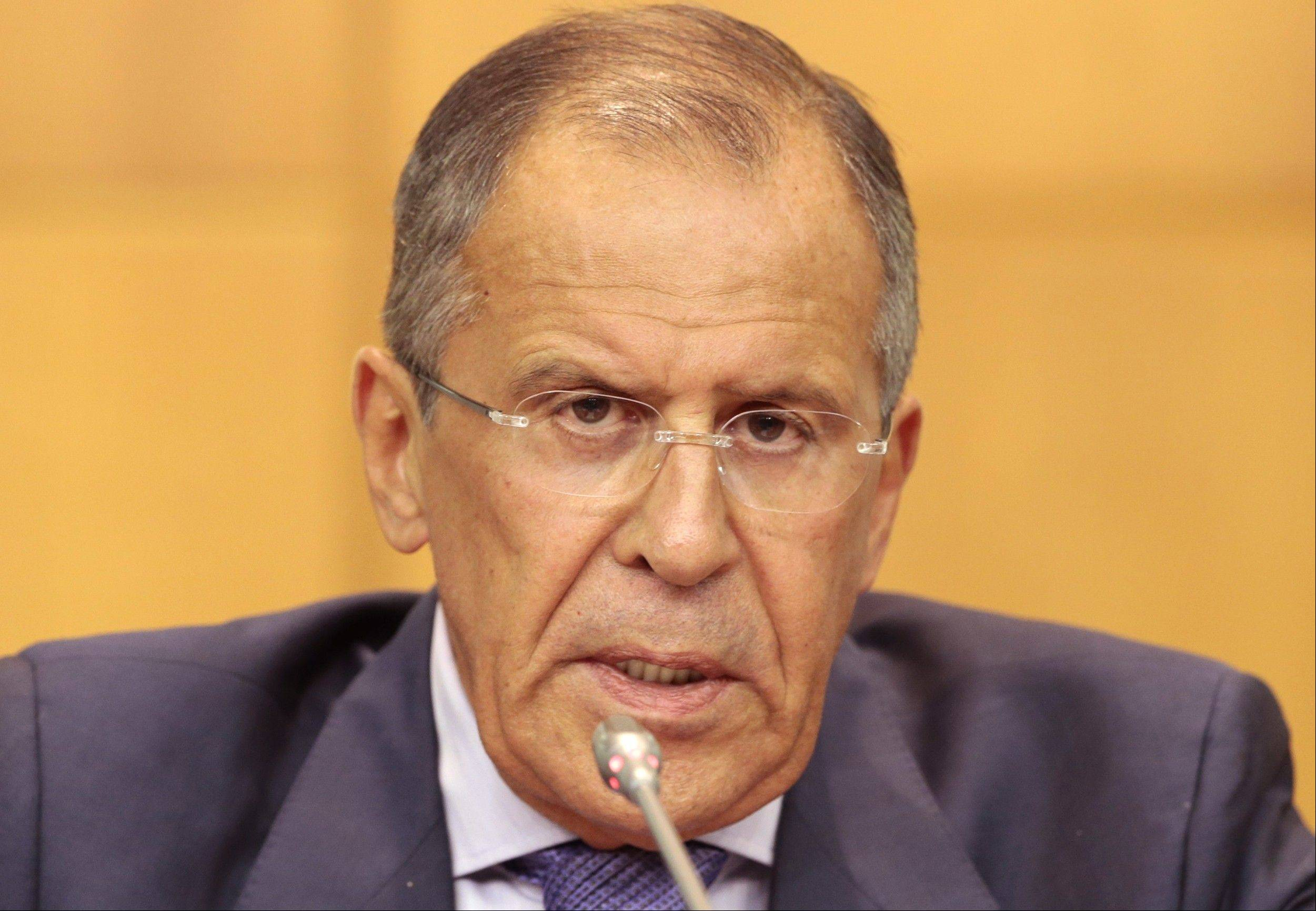 Russian Foreign Minister Sergey Lavrov said Monday that Western nations calling for military action against Syria have no proof that the Syrian government is behind the alleged chemical weapons attack.