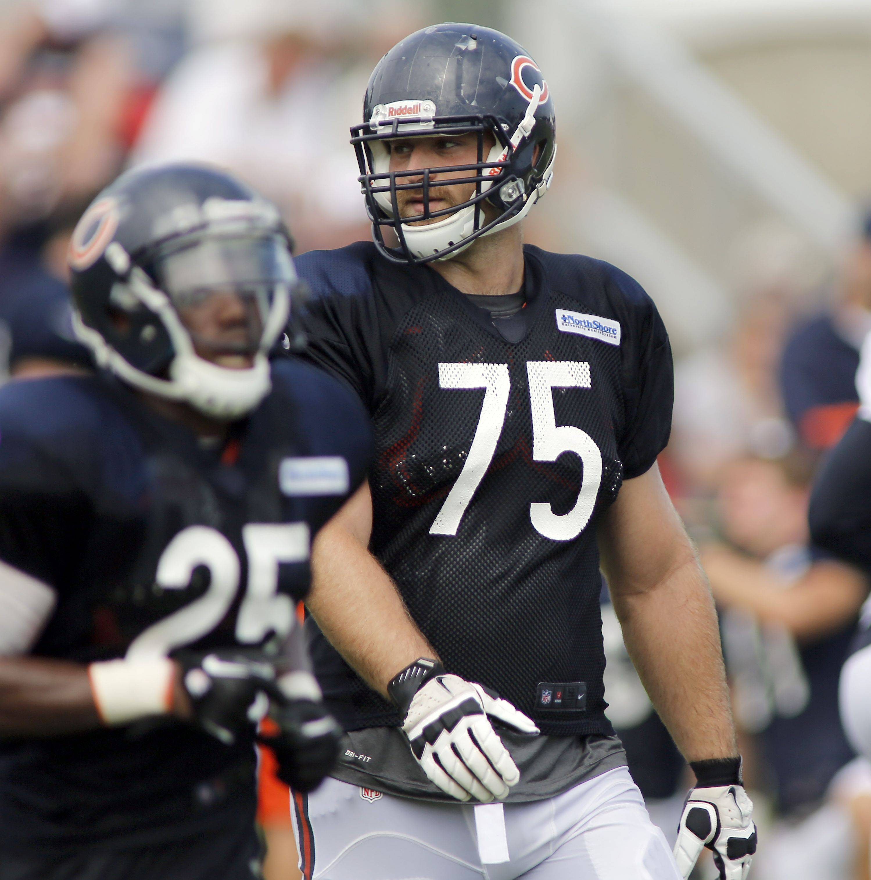 The veteran starters won't play against the Browns on Thursday, but rookies like Kyle Long (above), Jordan Mills and Jon Bostic may see limited action.