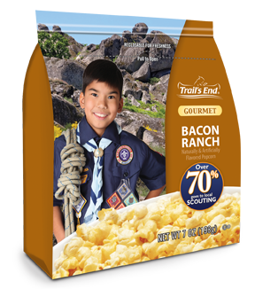 Scouts will be selling the perfect snack - our new Bacon Ranch popcorn!