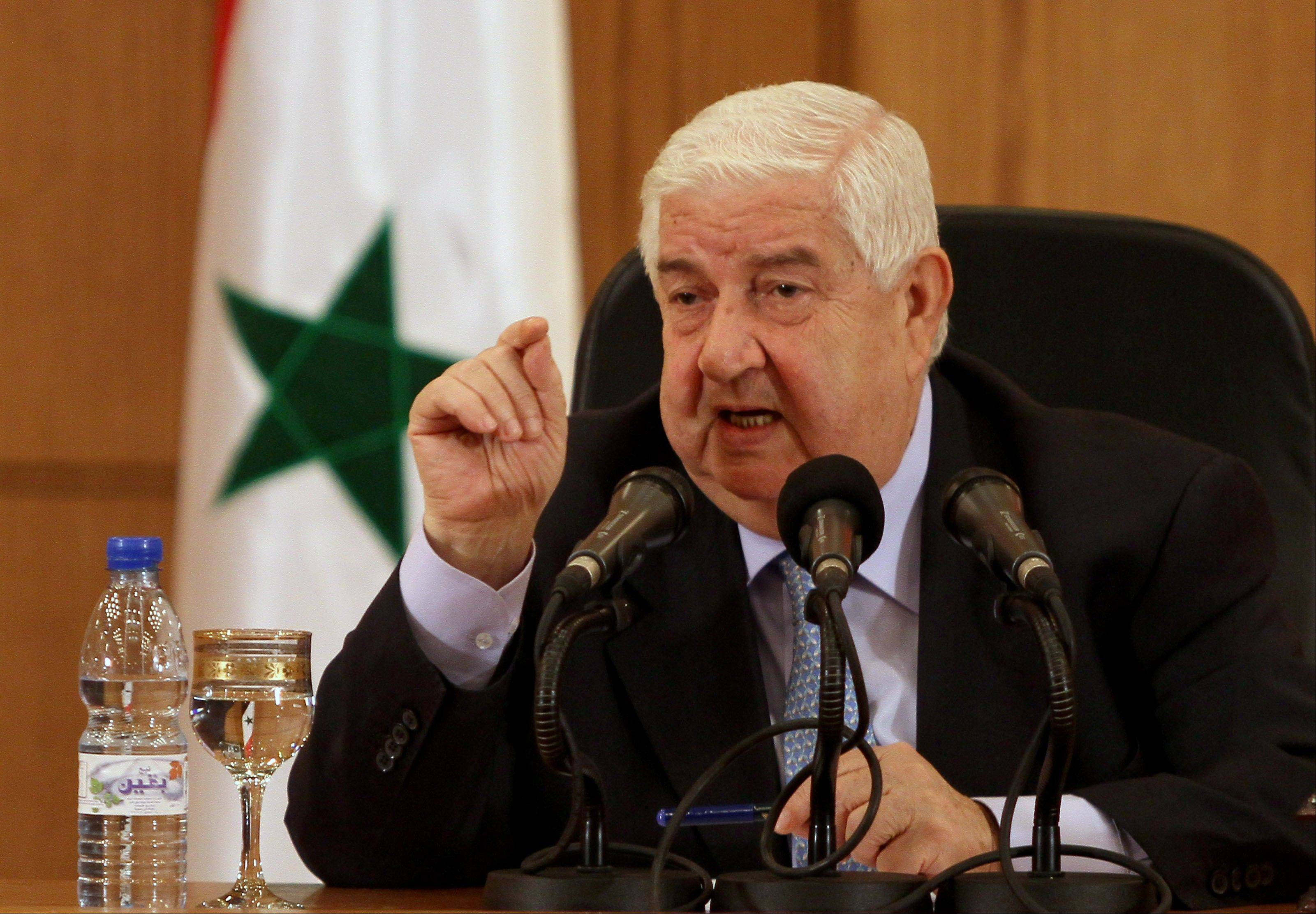 Syrian Foreign Minister Walid al-Moallem said Tuesday his country would defend itself using �all means available� in case of a U.S. strike, denying his government was behind an alleged chemical weapons attack near Damascus and challenging Washington to present proof backing up its accusations.
