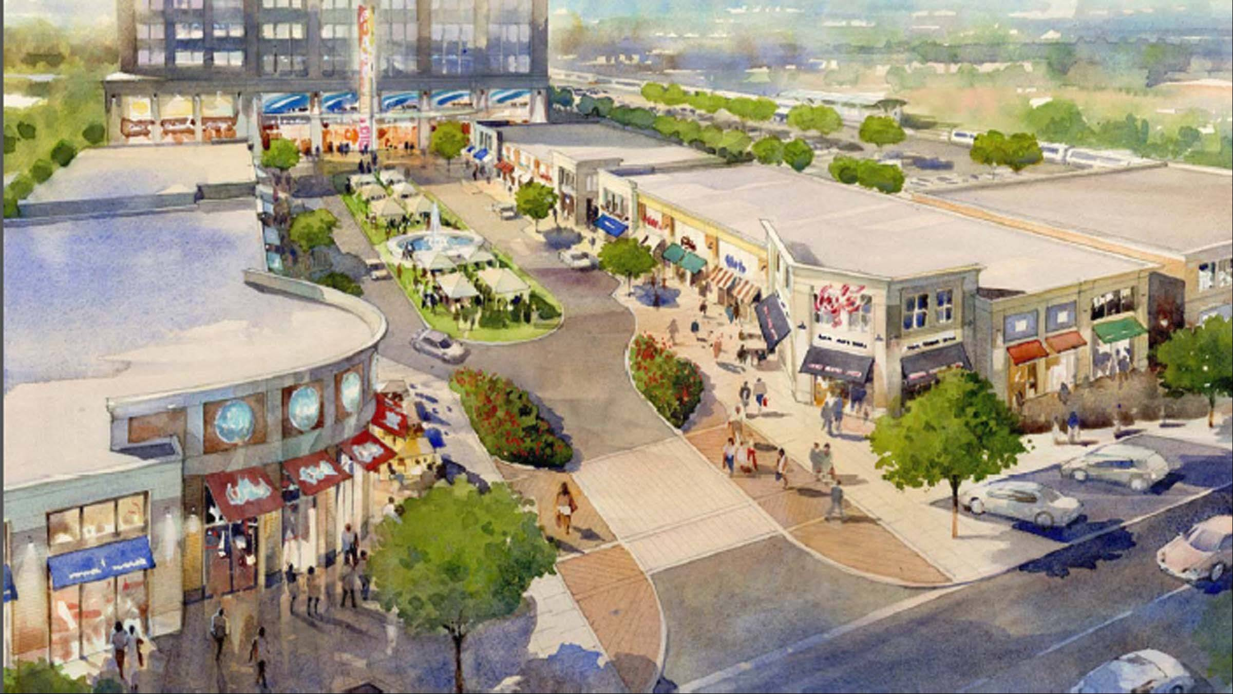 This is an artist's rendering of the proposed Wheeling Town Center. Developer Friedman Urban R2 expects to break ground in the summer of 2014.