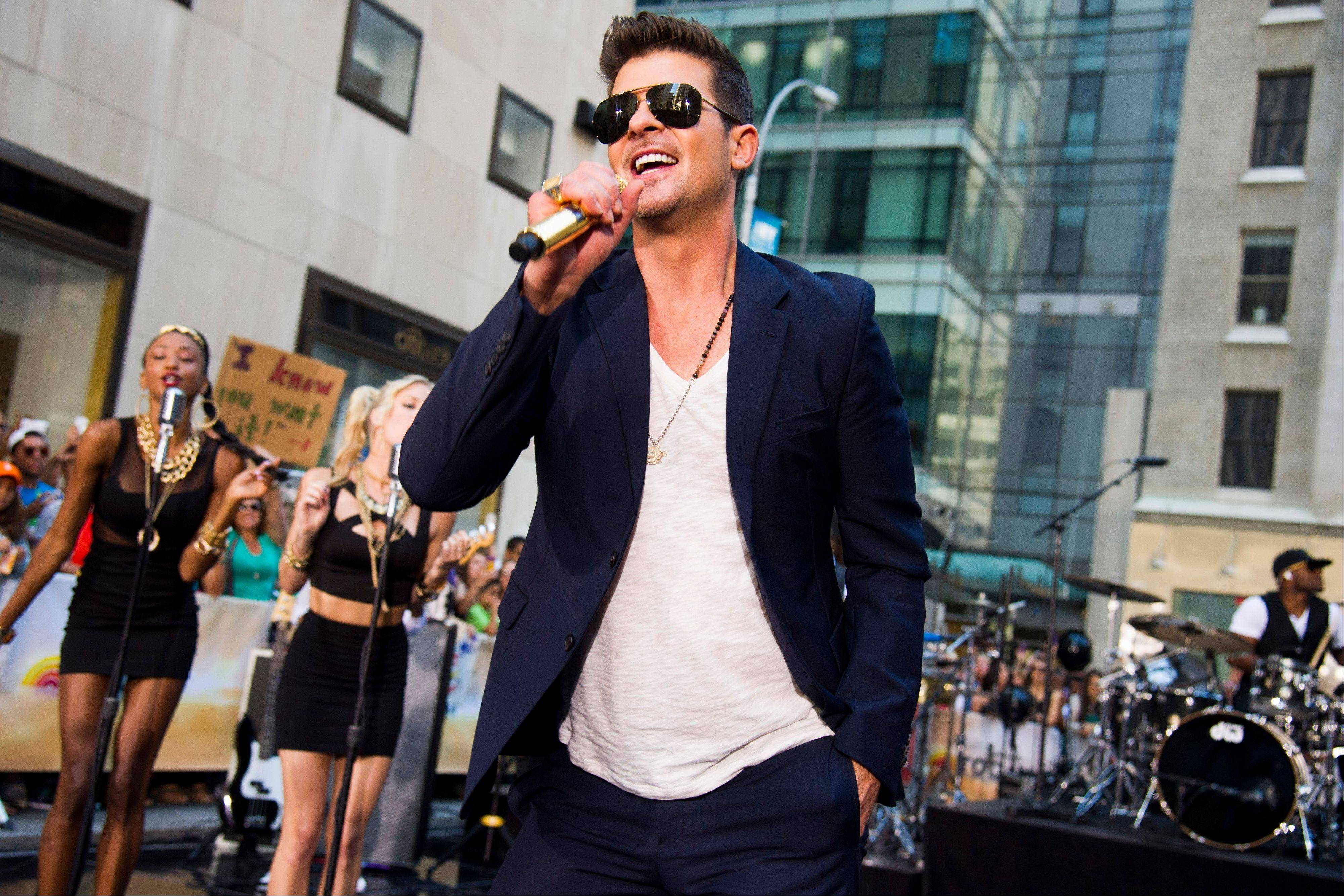 "Robin Thicke performs on NBC's ""Today"" show in New York."