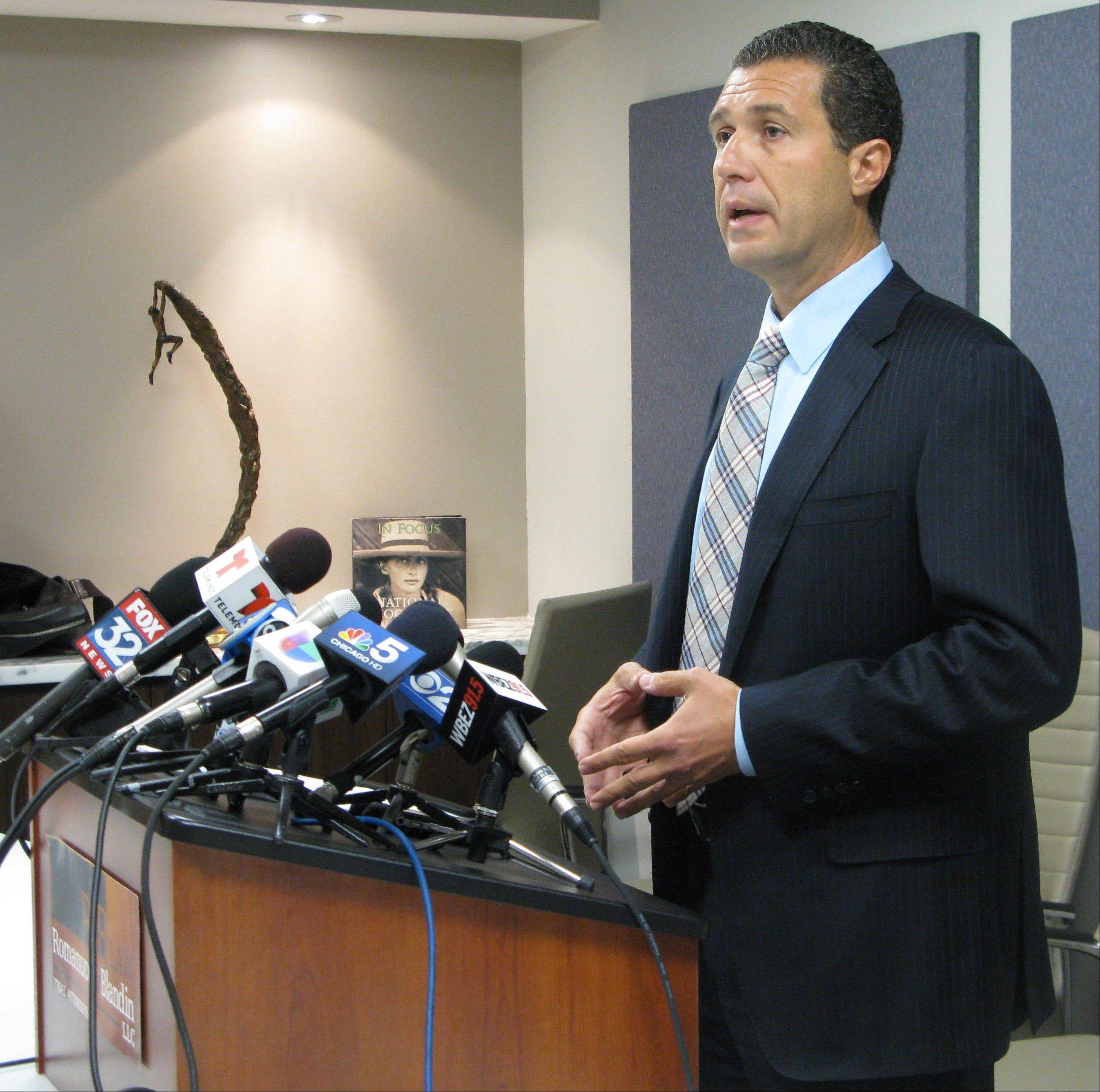 Antonio Romanucci describes the circumstances behind the latest hazing lawsuit, which says a 16-year-old soccer player was assaulted by seniors on the varsity team last fall at Maine West High School in Des Plaines. He spoke at a news conference in Chicago.