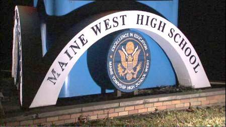 Maine West High School is located at 1755 S. Wolf Road in Des Plaines.