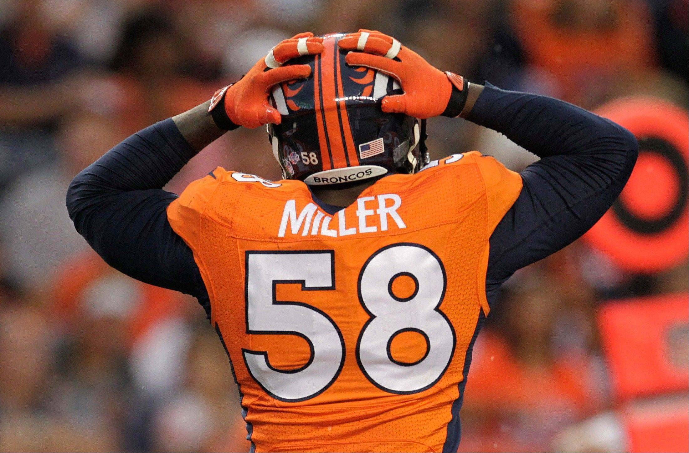 Broncos linebacker Von Miller has to sit out six games when the regular season begins.