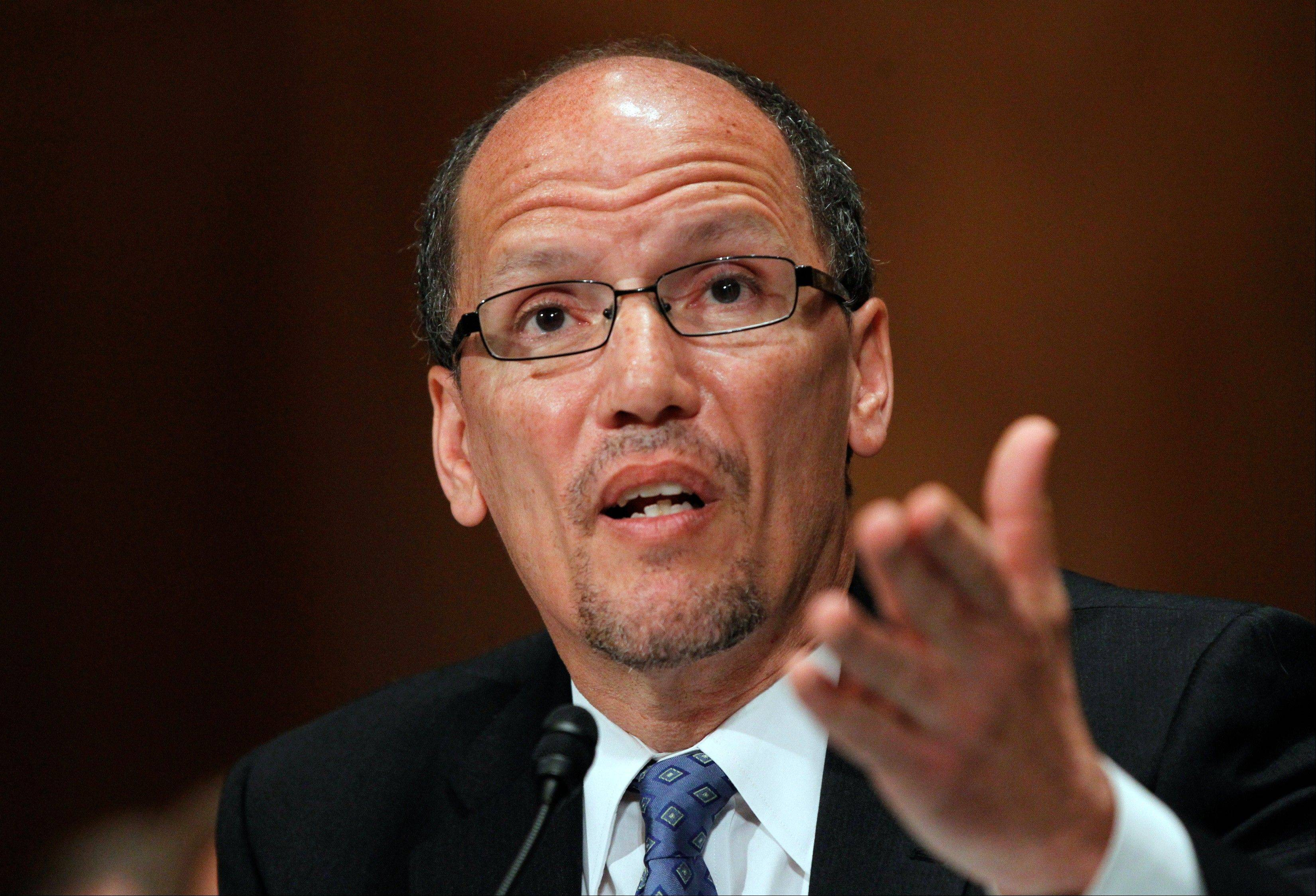 Labor Secretary Thomas Perez called the new policy requiring most government contractors to hire veterans and disabled workers a �win-win� that will benefit workers �who belong in the economic mainstream and deserve a chance to work and opportunity to succeed.�