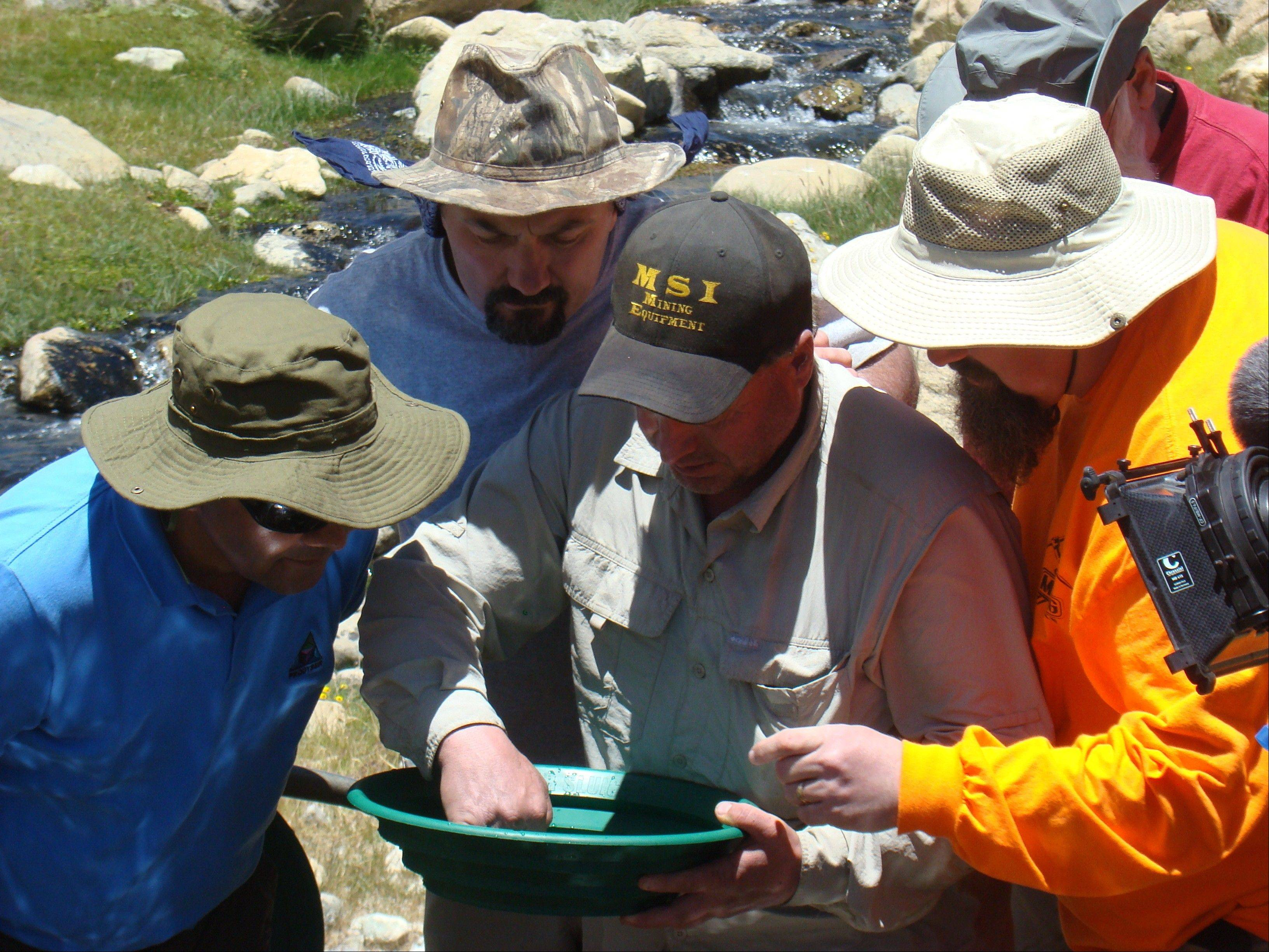 "Miners pan for gold in Chile in Discovery's ""Gold Rush: South America."""