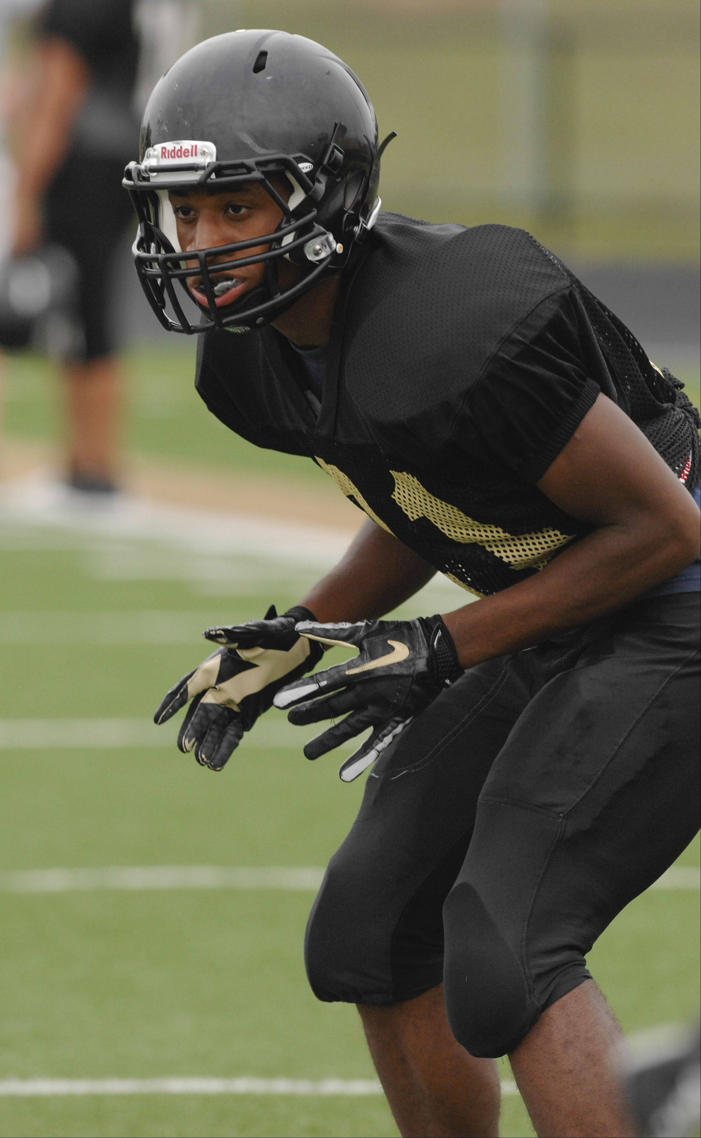 Glenbard North football varsity football player Justin Jackson.