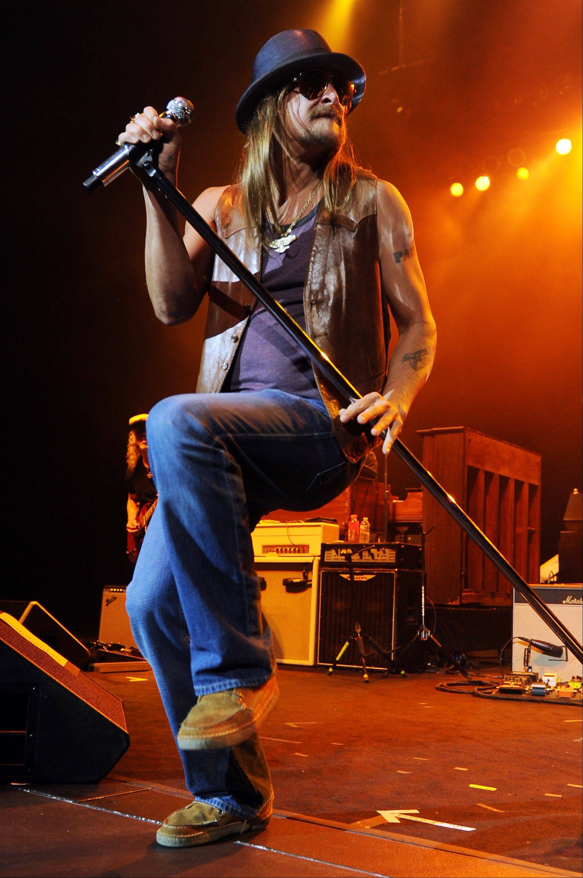 Kid Rock plays the First Midwest Bank Amphitheatre on Friday, Aug. 30.