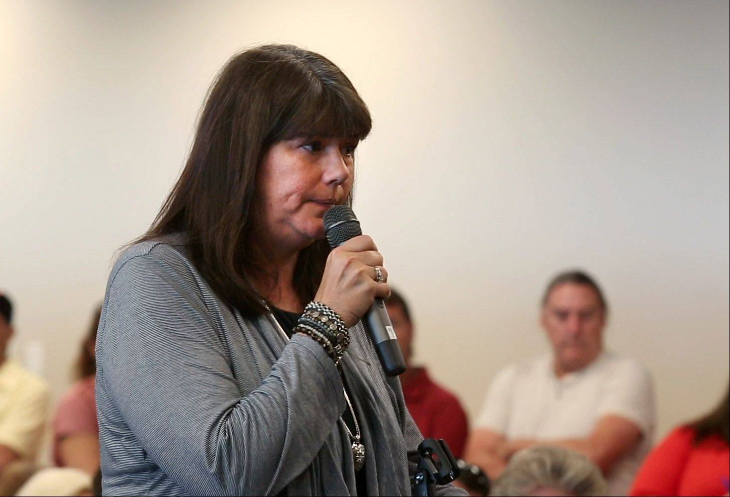 Libertyville resident Margaret Borcia, whose 10-year-old son, Tony, was killed by an impaired boater, speaks at a state senate committee hearing on proposals for stronger watercraft regulations.