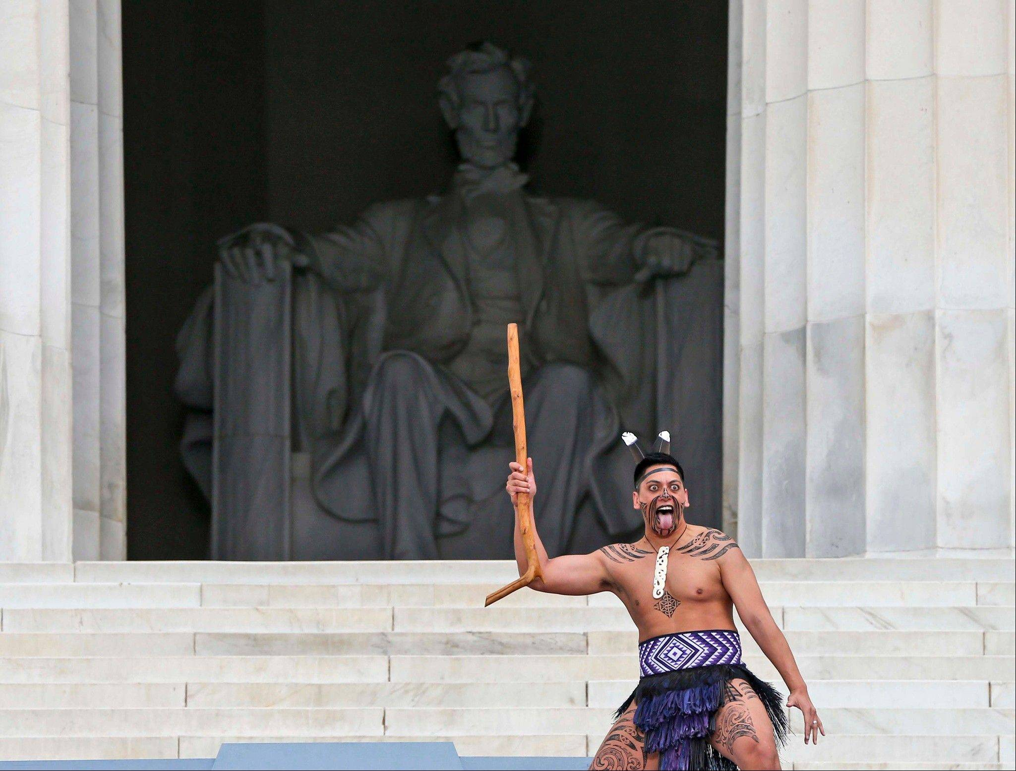 The Maori Dancers perform at the 50th Anniversary of the March on Washington .
