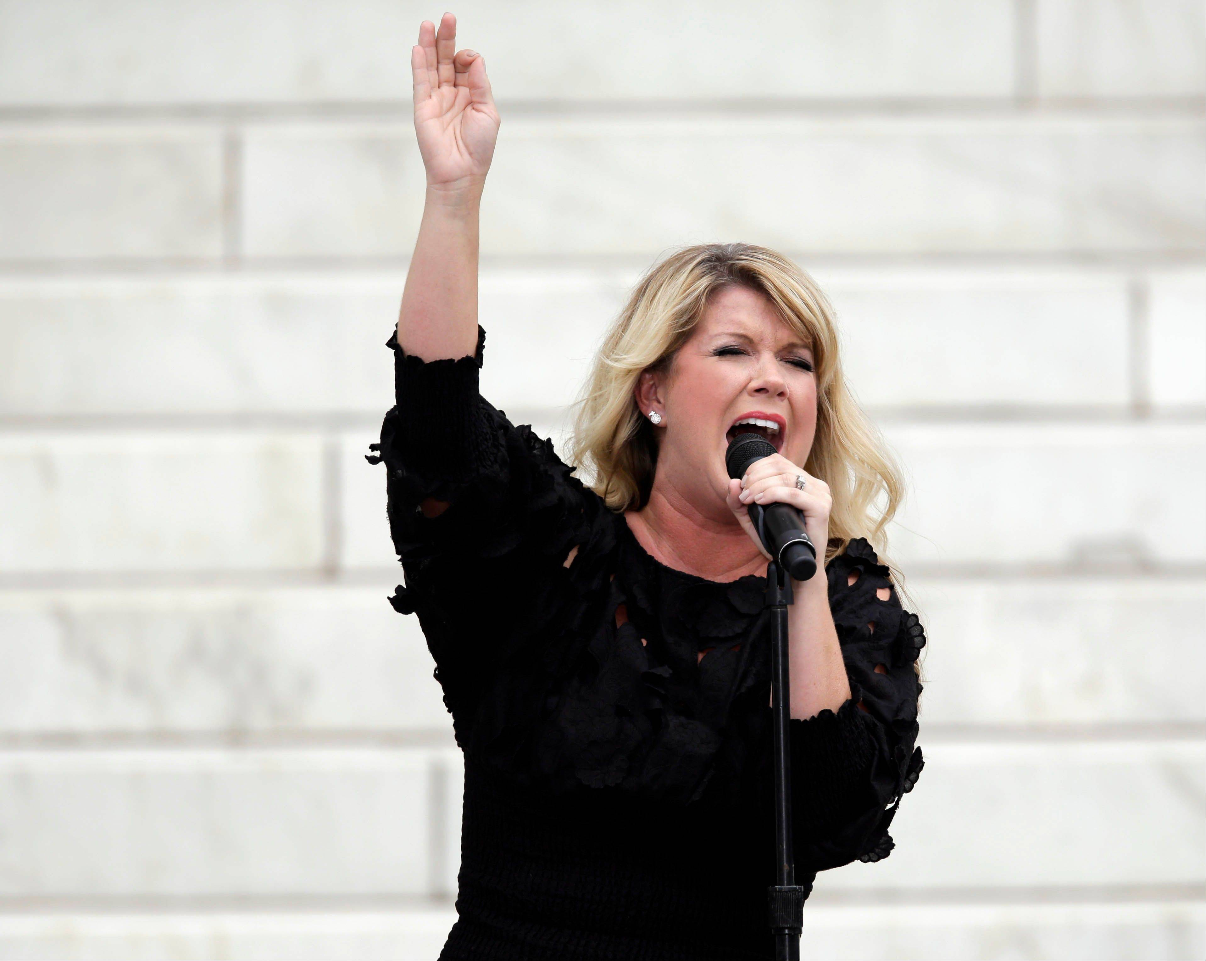 Entertainer Natalie Grant performs at the Let Freedom Ring ceremony.