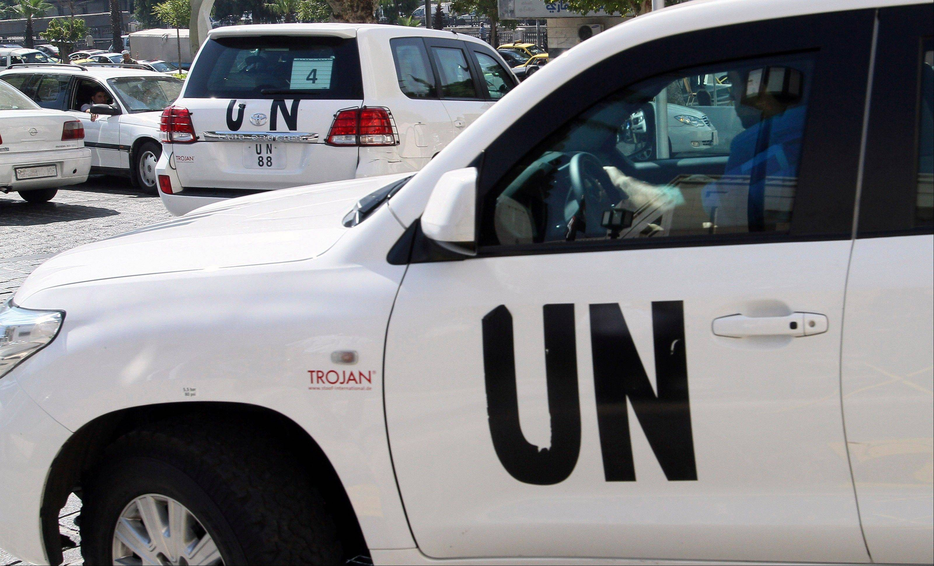 U.N. chemical weapons experts who are investigating last week's suspected poison gas attack on Syrian civilians leave a hotel Wednesday and are expected to visit the site near Damascus, Syria. United Nations Secretary-General Ban Ki-moon pleaded for a diplomatic solution to the Syrian conflict, even as world powers appeared to be moving toward punitive military strikes against President Bashar Assad's regime for what the United States and its allies say was a deadly chemical weapons attack. Syria has denied it was behind the alleged attack.