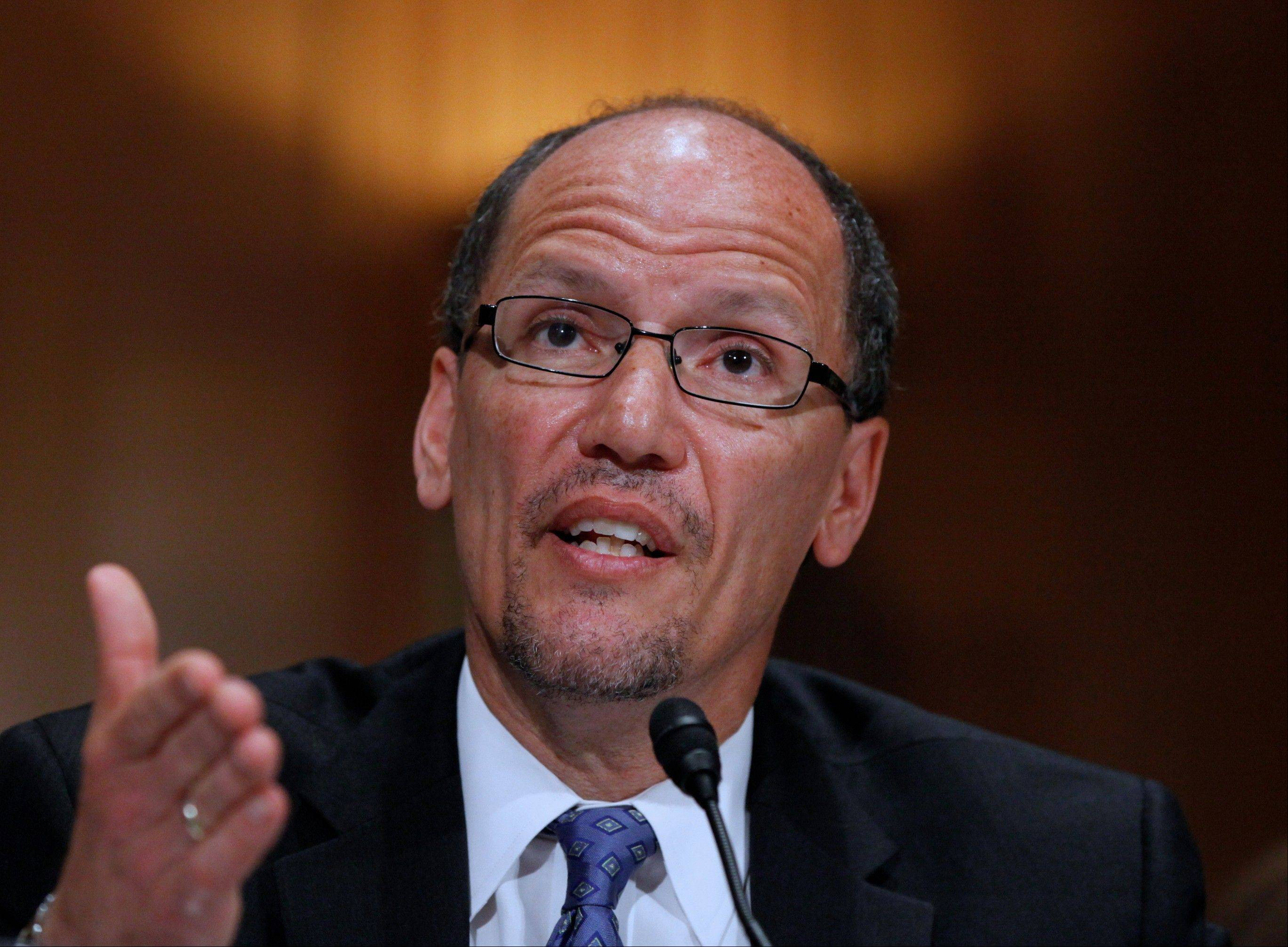 Labor Secretary Thomas Perez said recent fast food worker strikes are another sign of the need to raise the minimum wage for all workers.