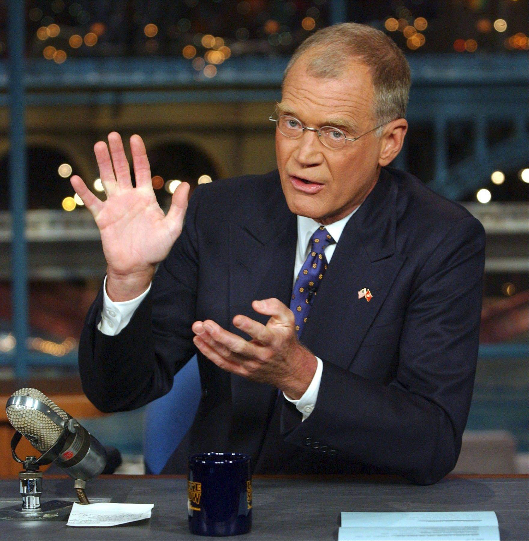 Television host David Letterman is celebrating 20 years on CBS.