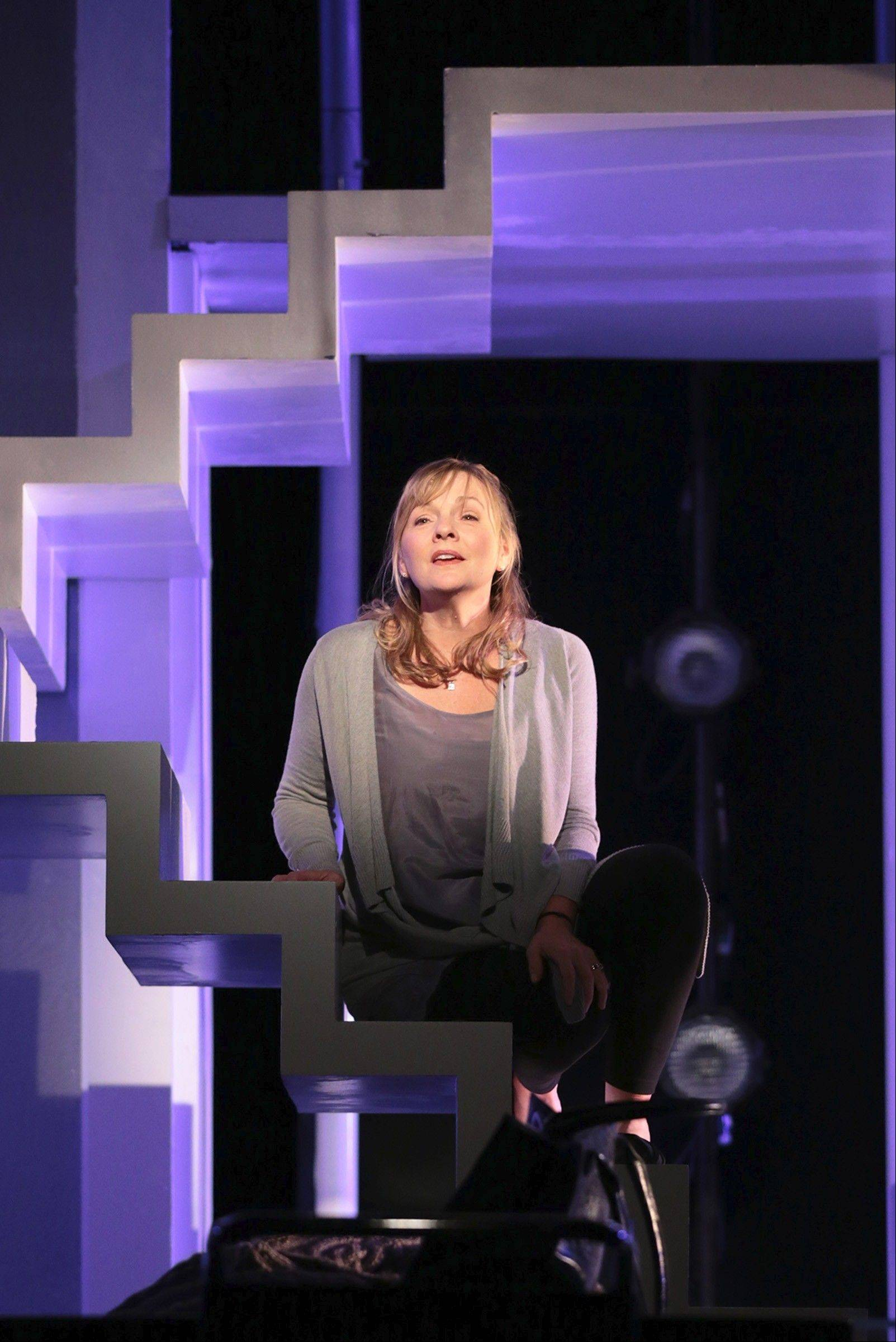 "Diana Goodman (Susie McMonagle) sings ""I Miss the Mountains"" in the Pulitzer Prize-winning musical ""Next to Normal"" at Drury Lane Theatre in Oakbrook Terrace."