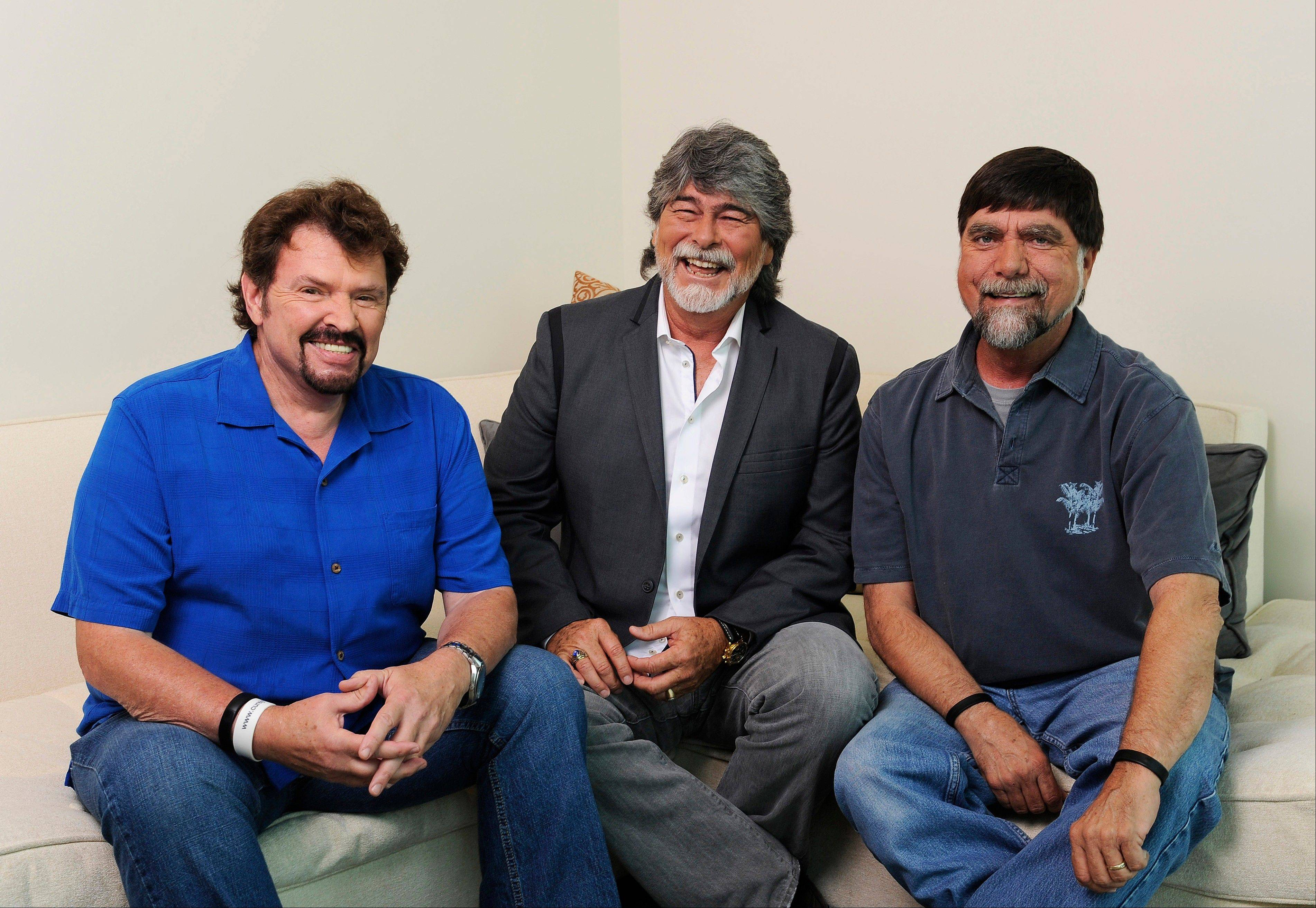 Jeff Cook, left, Randy Owen and Teddy Gentry of Alabama play the Pavilion at Ravinia at 8 p.m. Friday, Aug. 30.