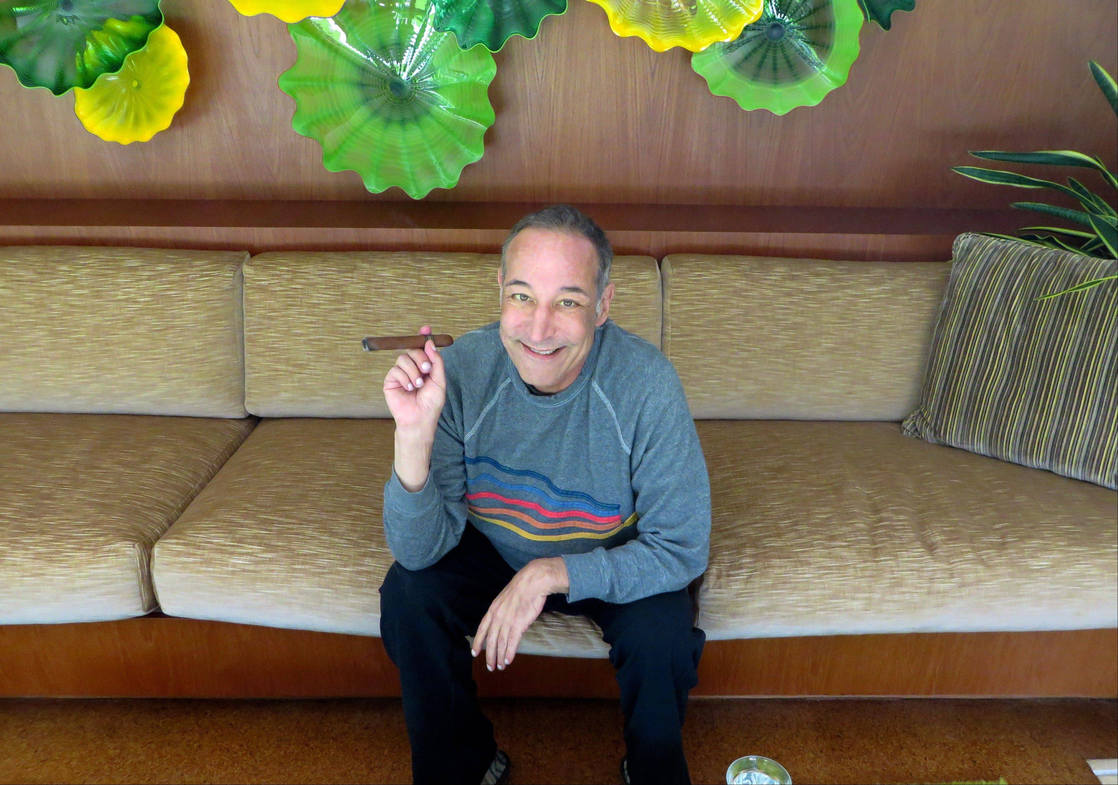"Sam Simon, co-creator of ""The Simpsons,"" at his home in Pacific Palisades, Calif. Simon, 58, was diagnosed with colorectal cancer last November."