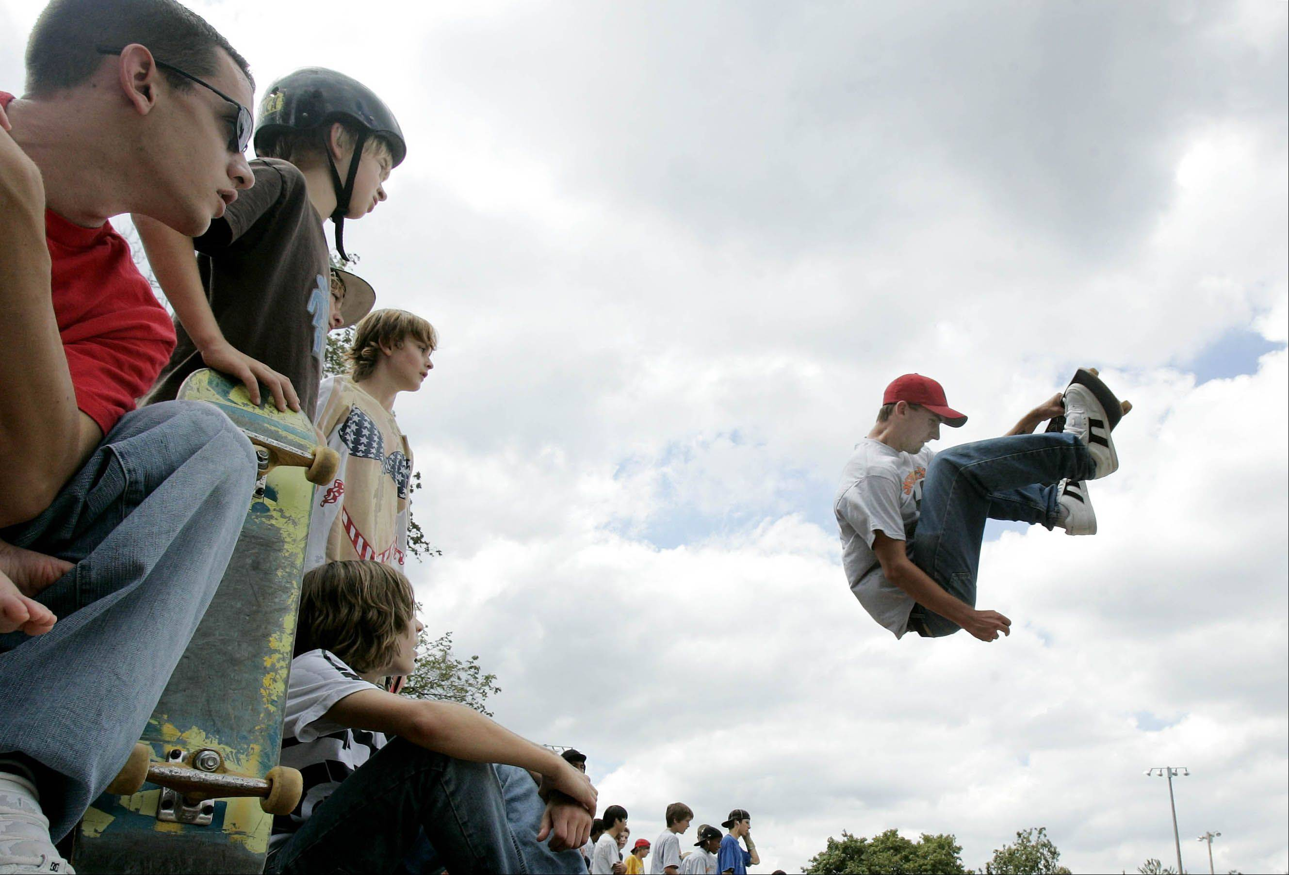 The annual Last Fling Skaters Picnic brings Naperville area skateboarders and police officers together for tricks, prizes and eating contests featuring pie and doughnuts. This year's picnic is scheduled for 11 a.m. to 2 p.m. Saturday, Aug. 31, at the Centennial Beach Skate Park, 500 W. Jackson Ave., Naperville.