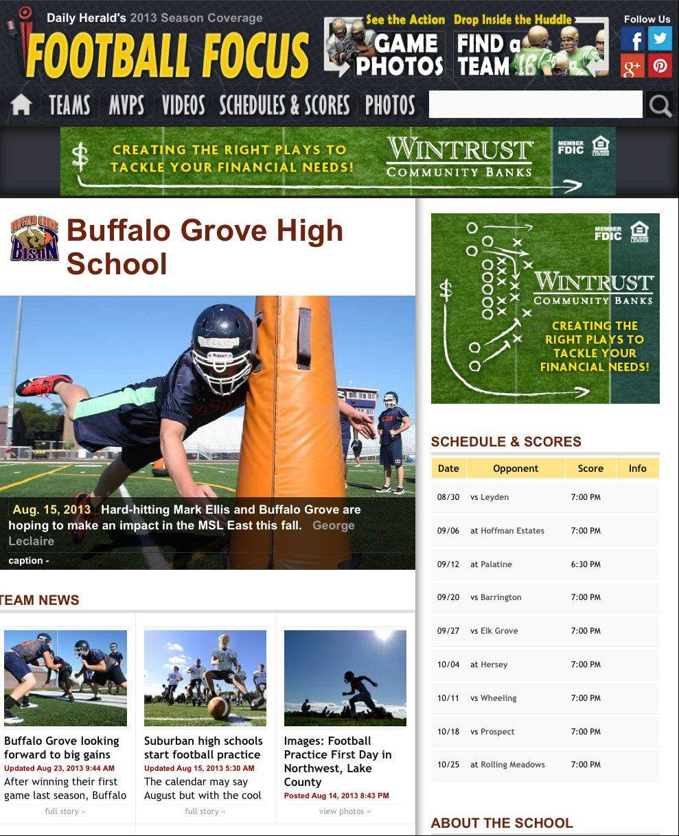 Daily Herald's Football Focus 2013
