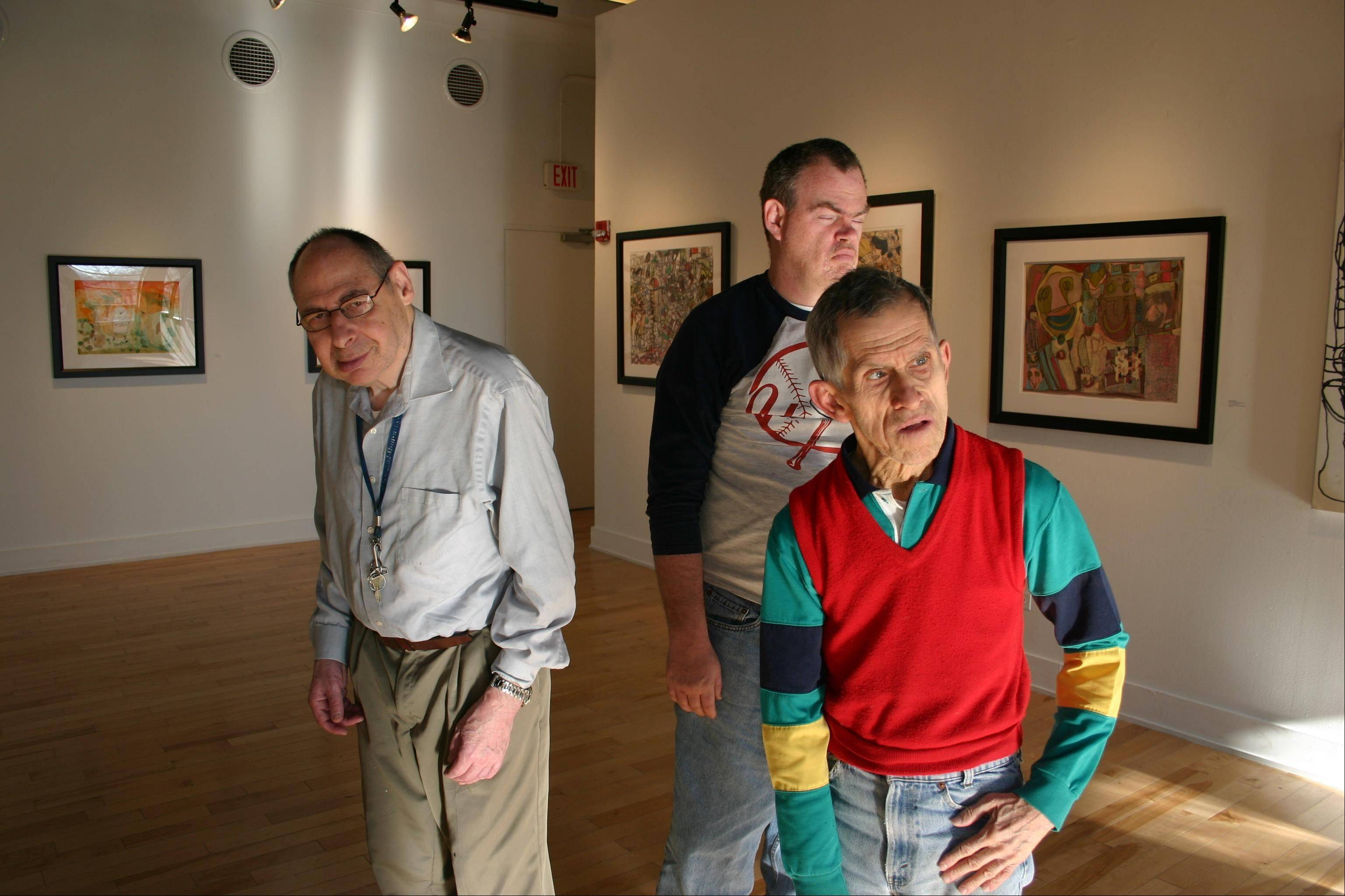 "A new documentary, ""Share My Kingdom,"" delves into the lives of Little City artists, from left, Luke Tauber, Harold Jeffries and Wayne Mazurek."