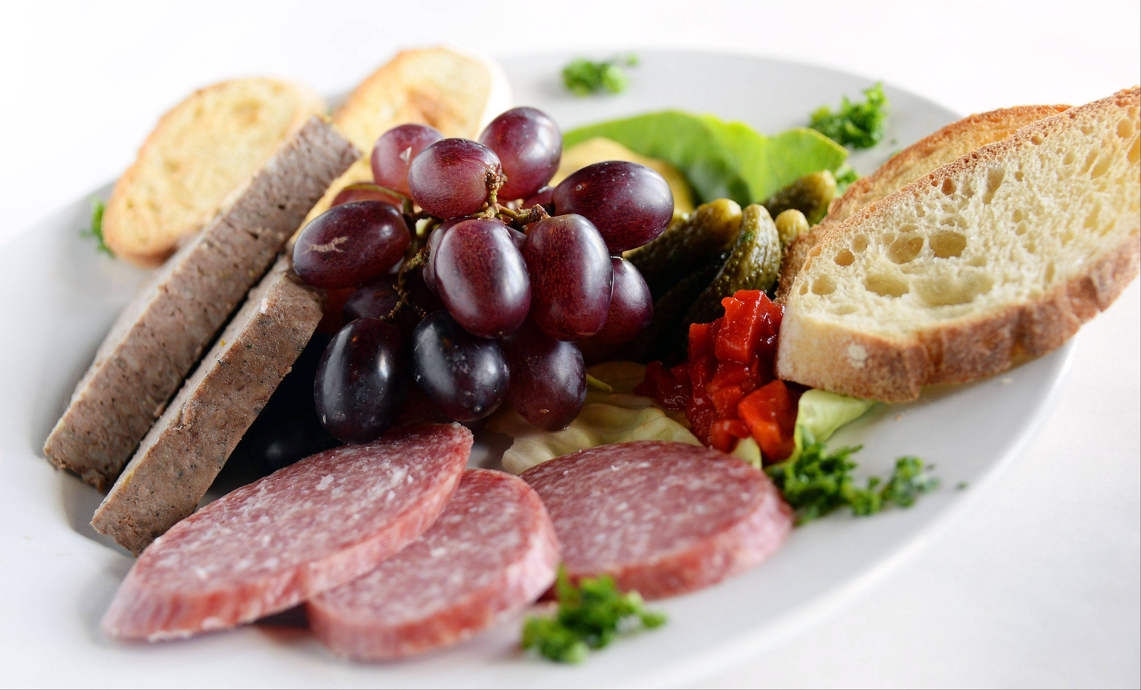 Homemade pate and sausages are available at Retro Bistro in Mount Prospect.