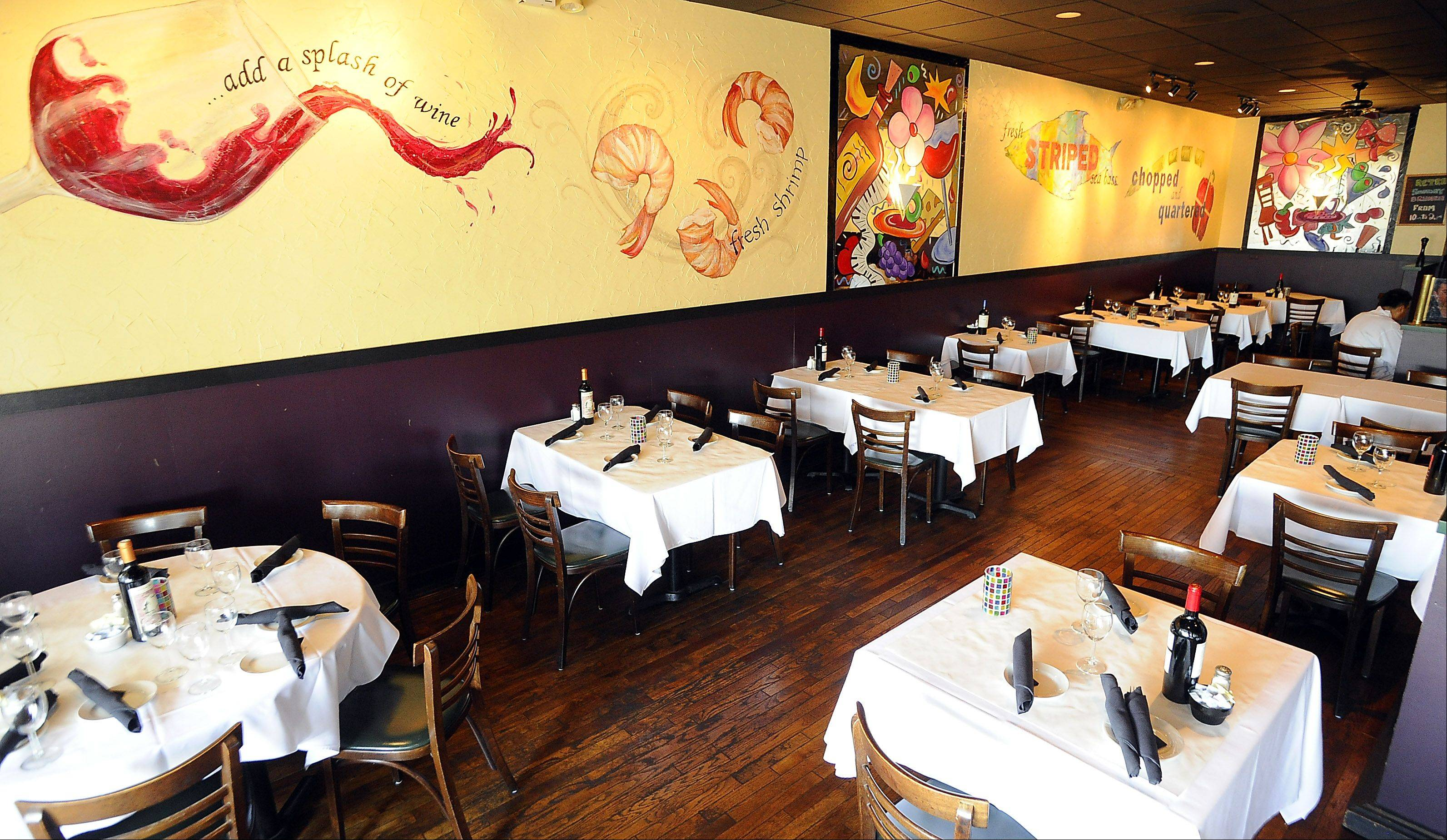 Retro Bistro's muraled walls add the right amount of fun to fine dining.