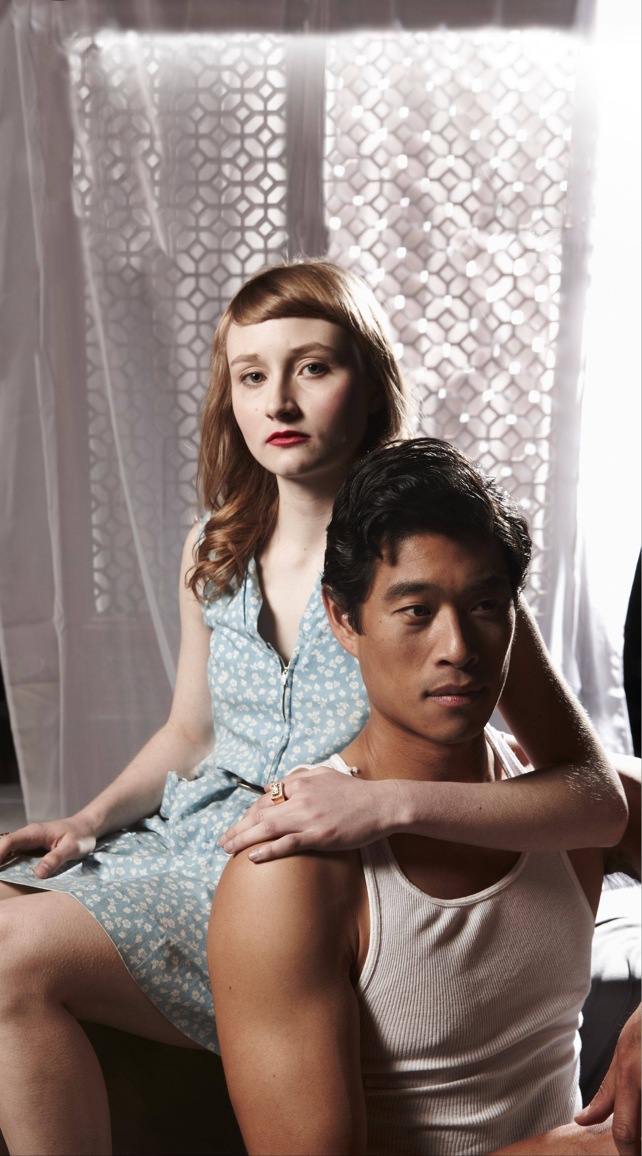 "Rae Gray and Tim Chiou star in Lookingglass Theatre's ""North China Lover."""