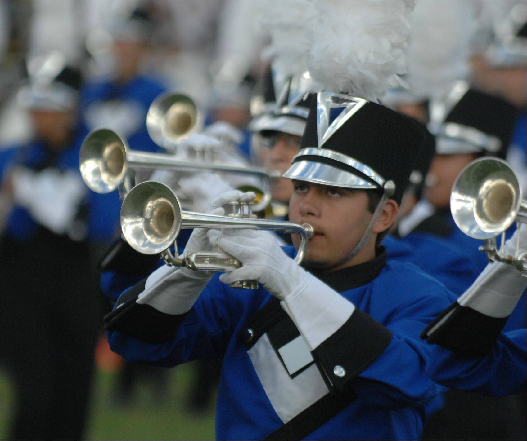 "The 140-member Lake Park Lancer Marching Band, under the direction of Michael Chiodo, will debut its 2013 show, ""The Five Stages of Grief,"" in an exhibition performance at the Sept. 14 Joust."
