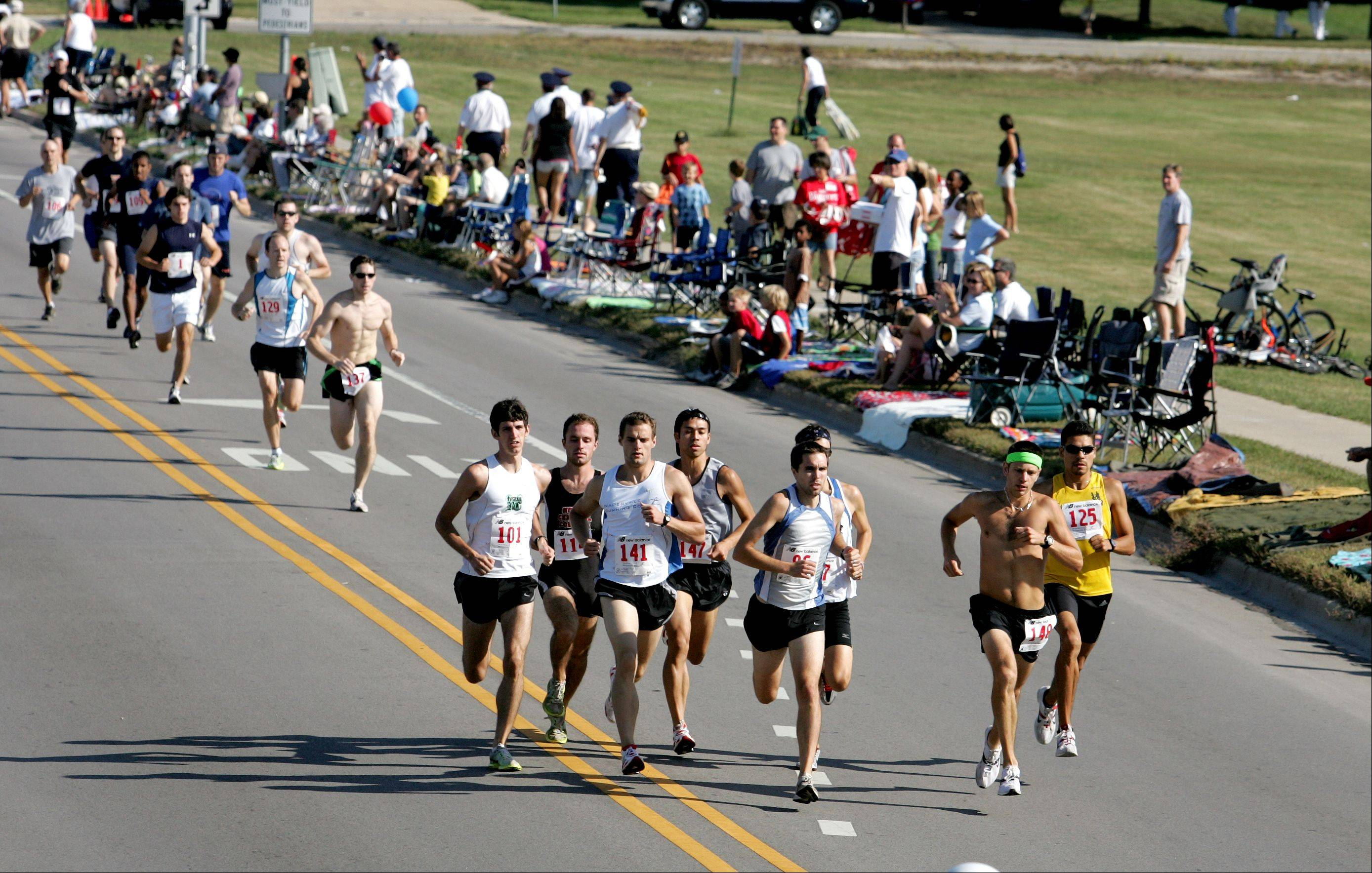 Participants in the Fling Mile in Naperville will run at 9:30 a.m. Monday along the Labor Day Parade route lined with spectators and can win awards in 12 different age groups.