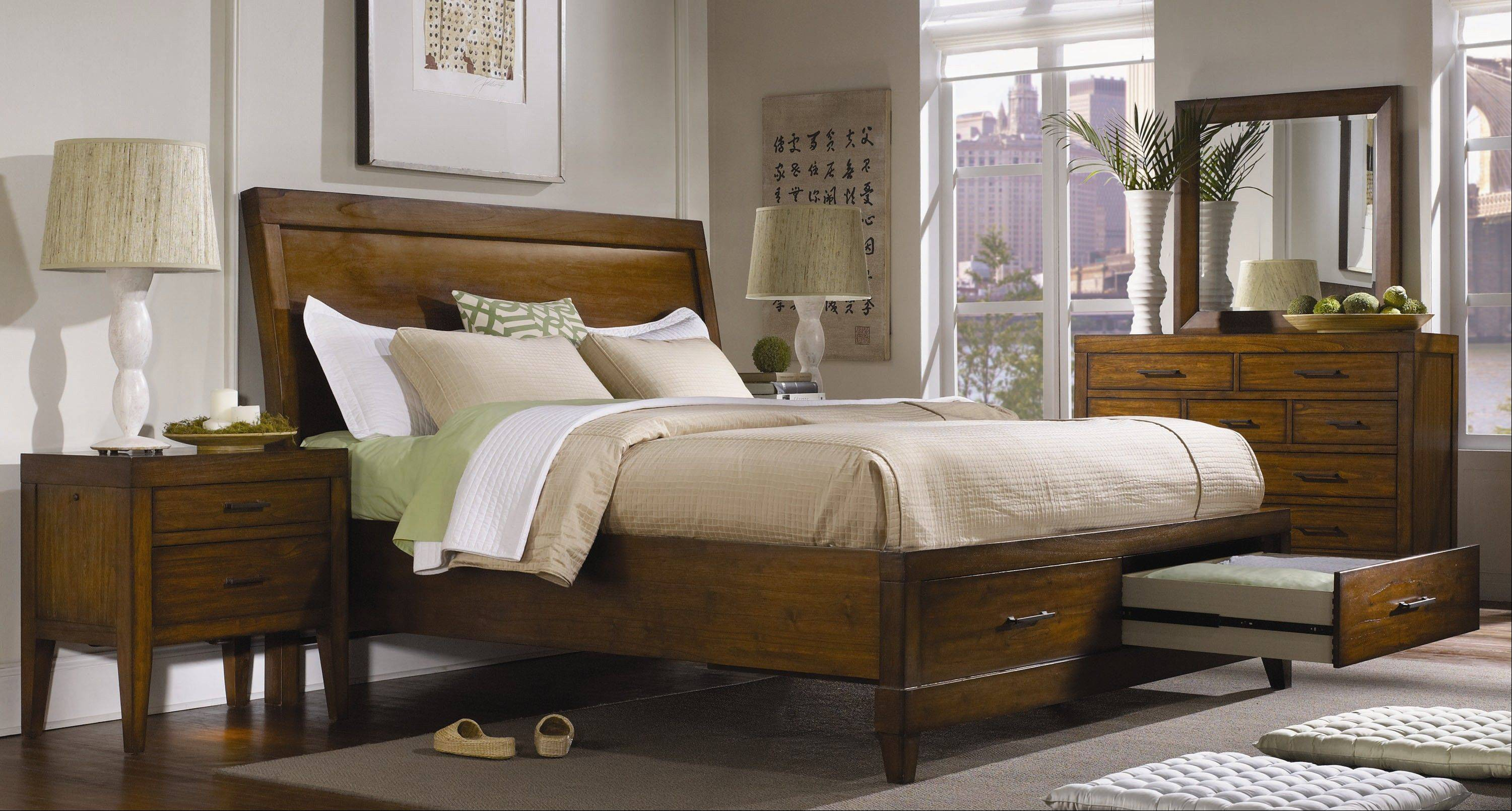 As homeowners struggle with the need for more storage space, king- and queen-size beds with storage drawers have become more popular.