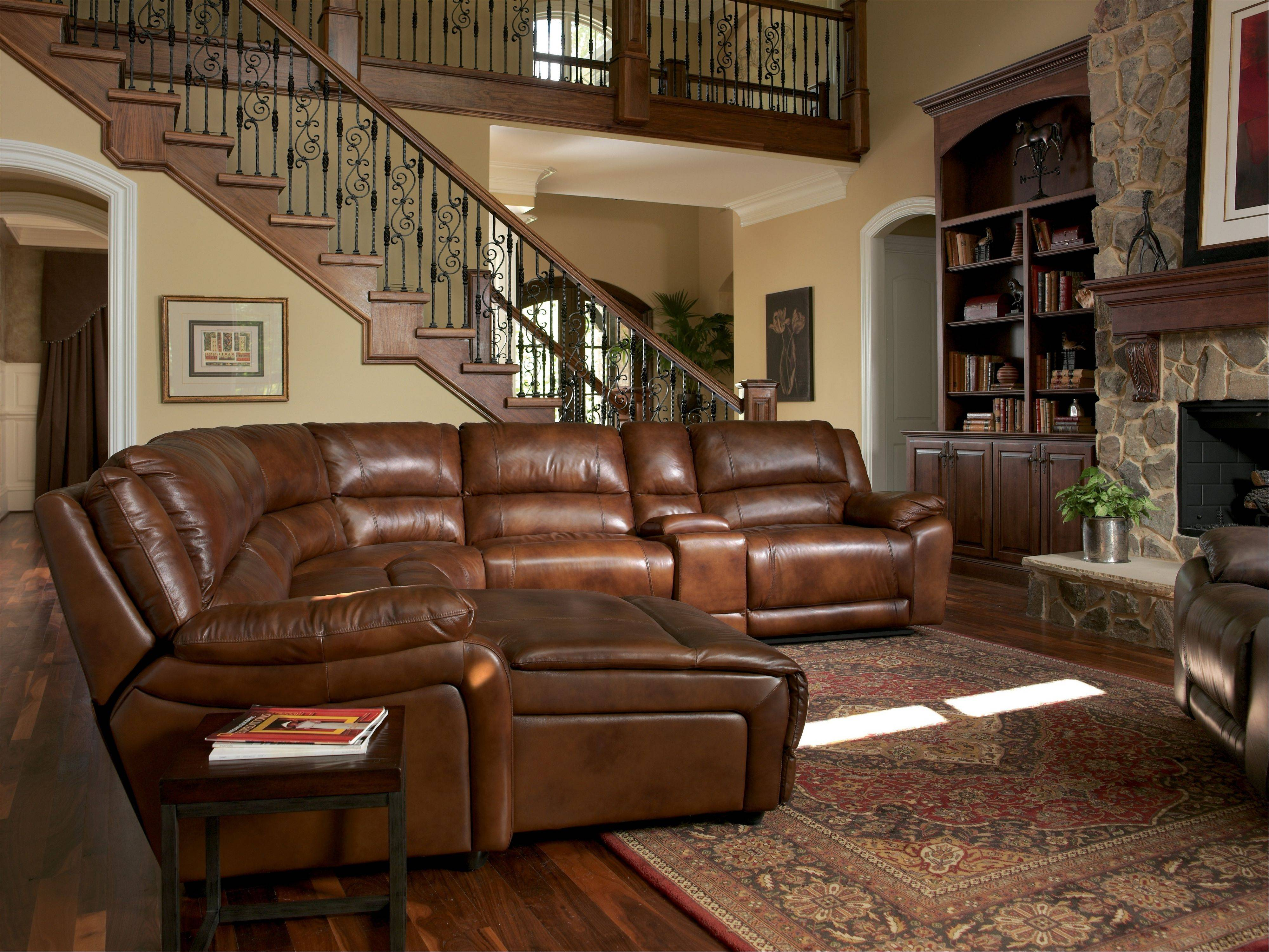 Sectionals with built-in, motorized recliners are popular with homeowners.