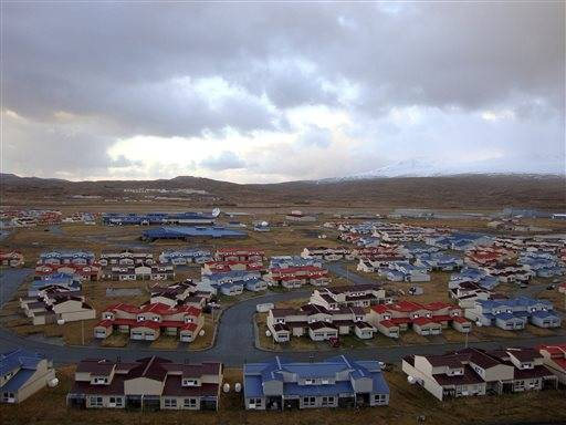 This is a neighborhood housing in Adak, Alaska. Officials say a magnitude 7.0 earthquake has rocked Alaska's Aleutian Islands, Friday, Aug. 30, 2013, with a jet-like rumble that shook homes and sent residents scrambling for cover. There are no immediate reports of damage or injuries from the major temblor at 8:25 a.m. Friday, local time. It was followed by multiple aftershocks, including one measuring magnitude 4.5.