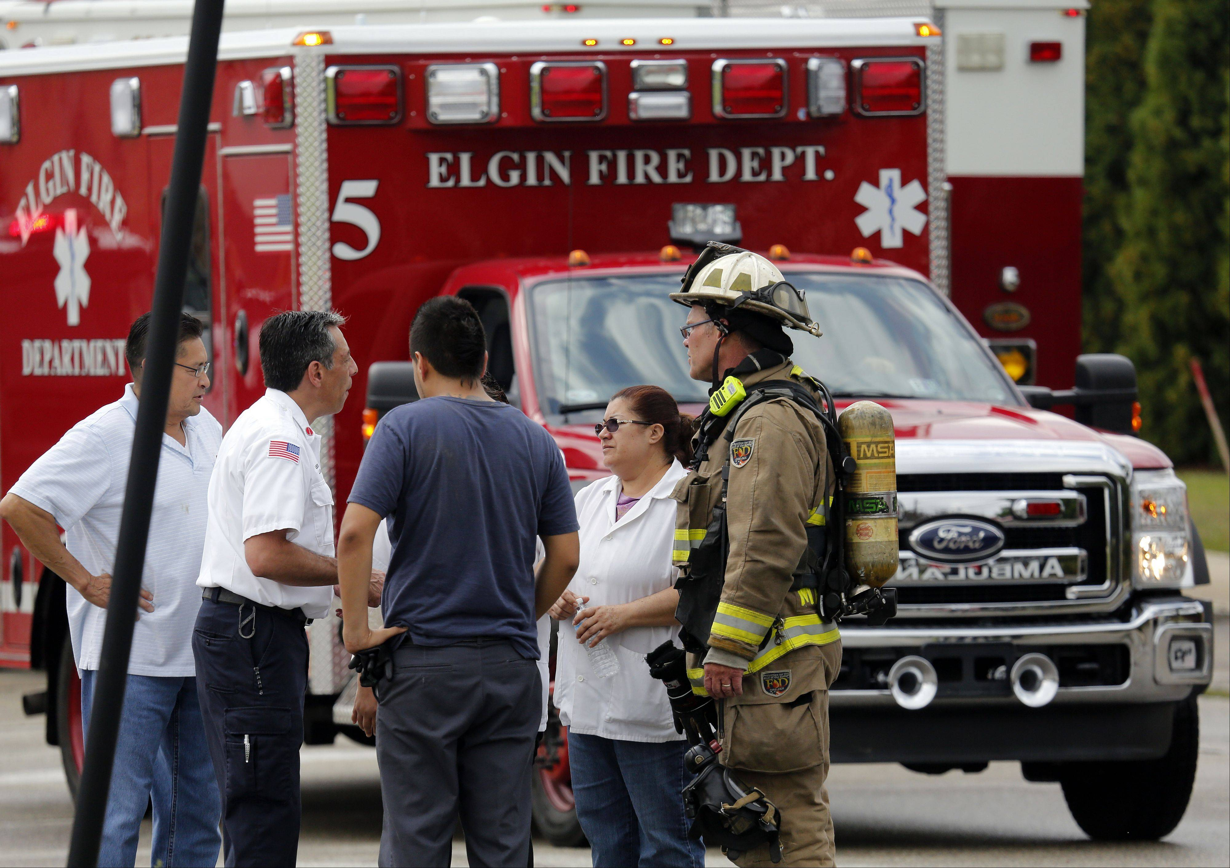 Elgin police and fire officials responded just after 10 a.m. to Capsonic, 460 S. Second St., Elgin, for reports of workers breathing in formaldehyde gas at the factory. A plastics injection molding machine got too hot, and the pellets fed into it burned instead of melting, fire officials said.