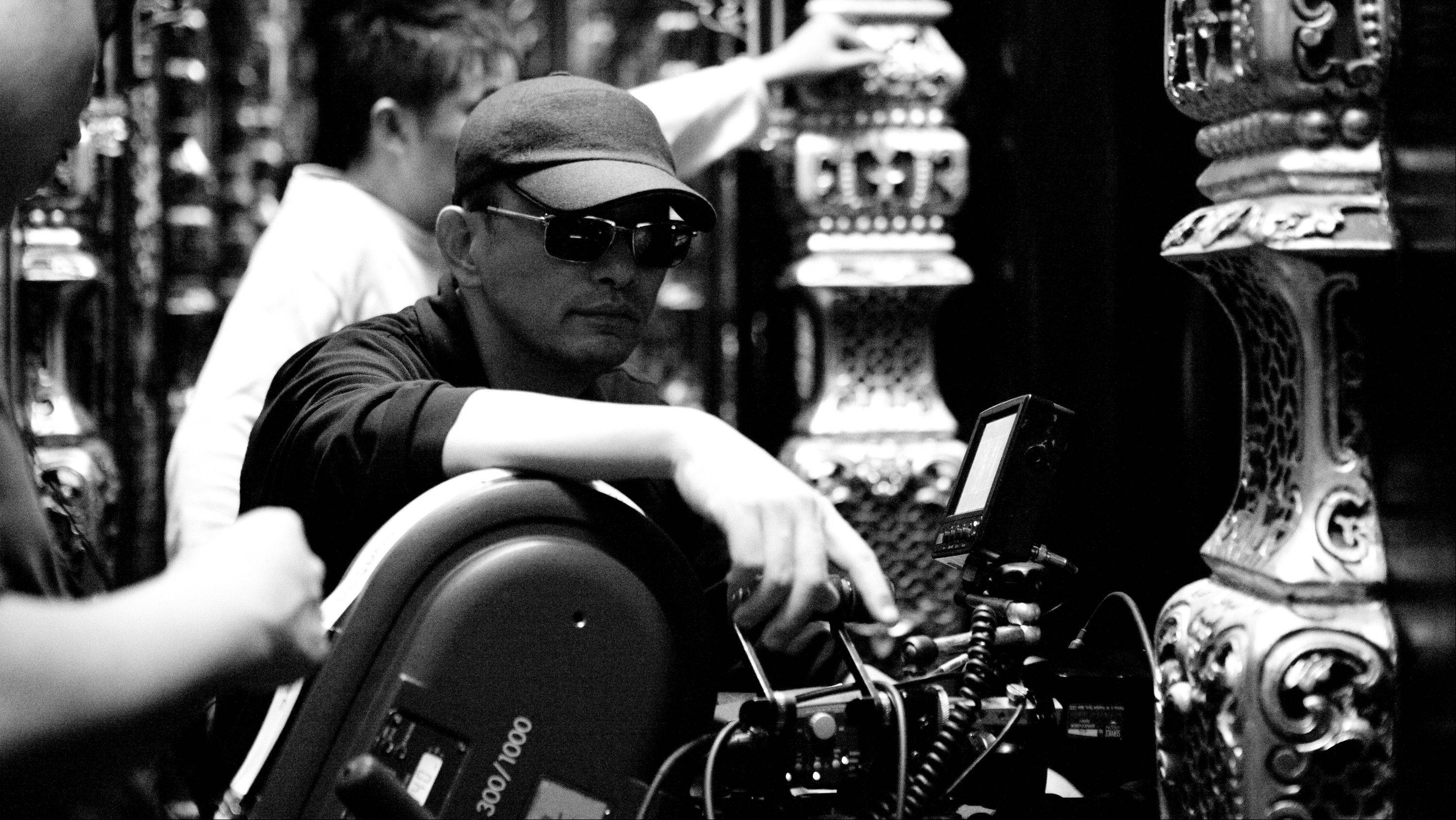 "Director Wong Kar Wai prepares to shoot a scene from his new movie, ""The Grandmaster,"" about the martial arts mentor who trained Bruce Lee."