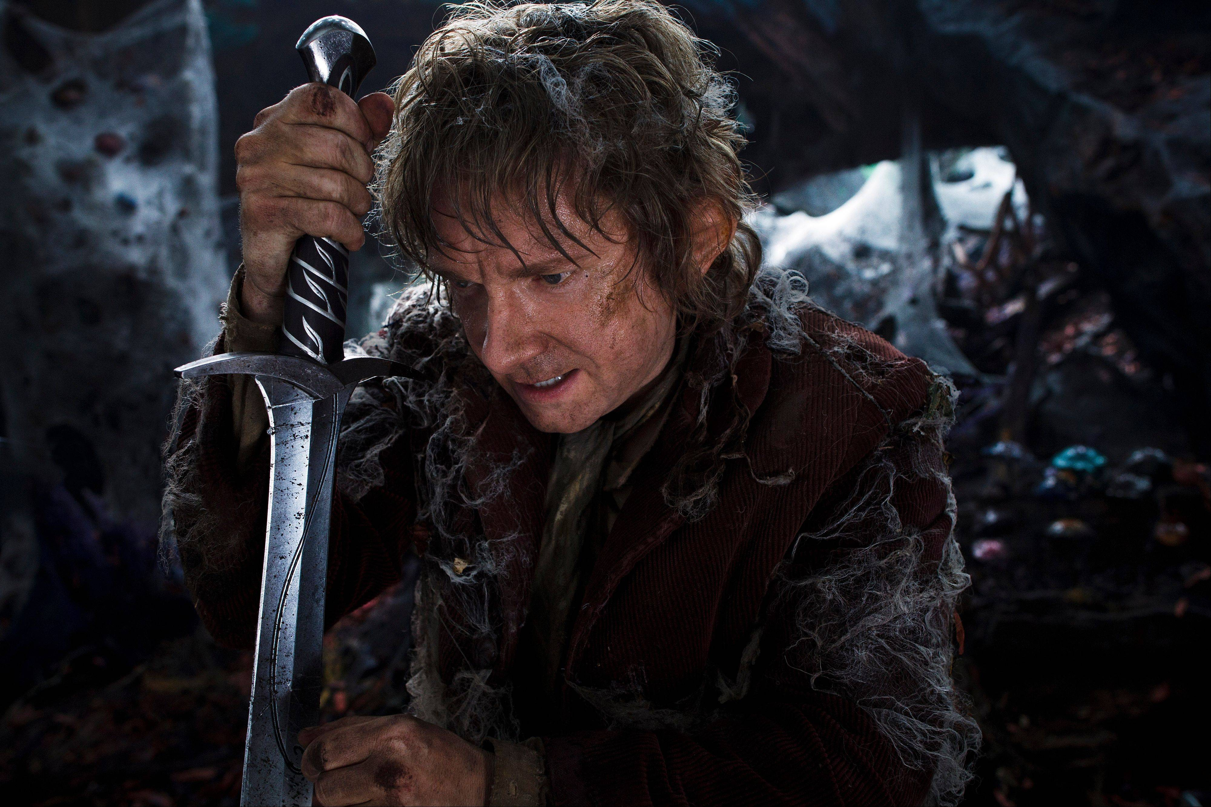 "Martin Freeman plays Bilbo Baggins in ""The Hobbit: The Desolation of Smaug."""