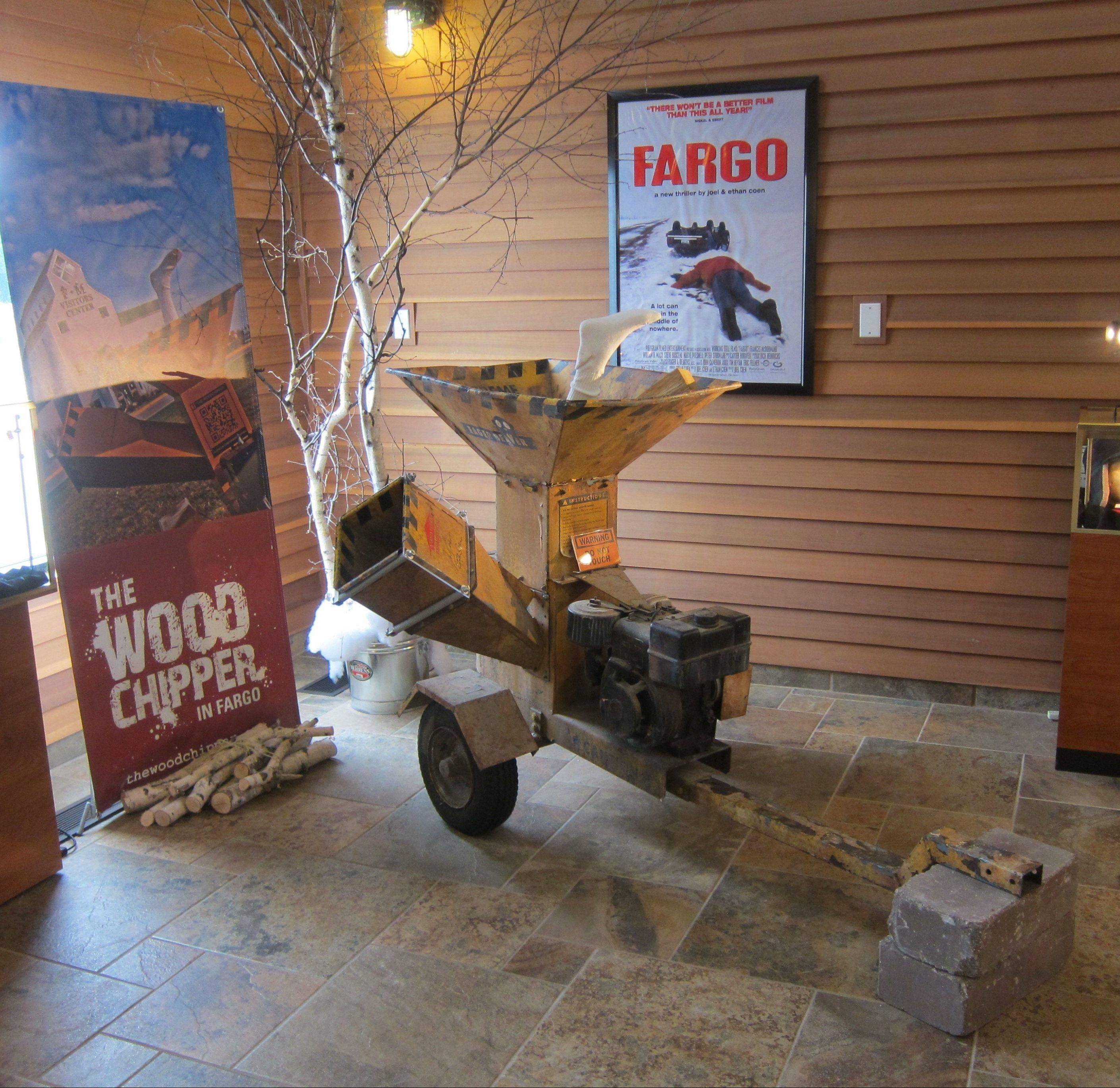 "The wood chipper used in the movie ""Fargo"" is on display at the Fargo-Moorhead Visitors Center."