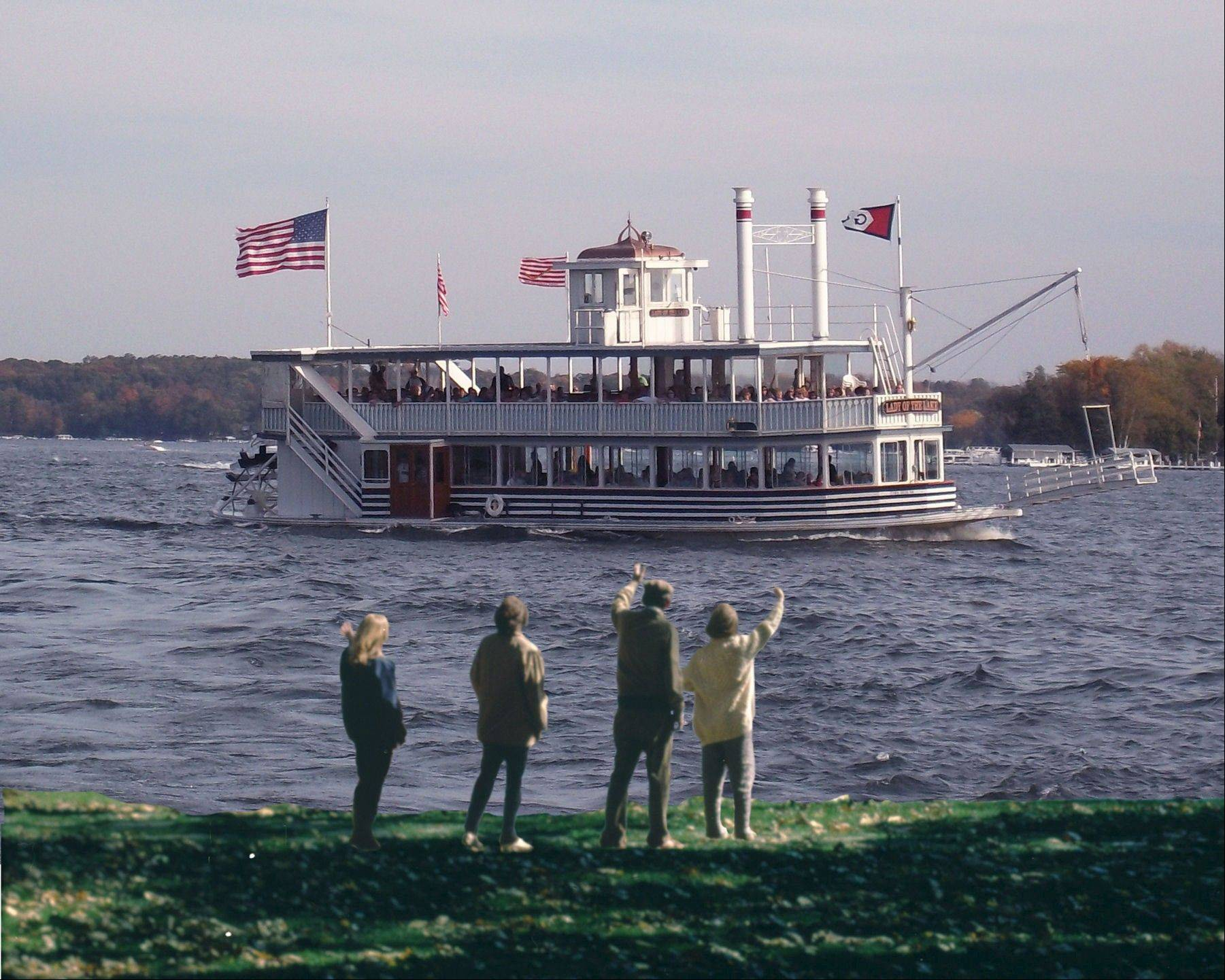 Hike then board a boat for a champagne brunch Sundays this fall with the Lake Geneva Cruise Line.