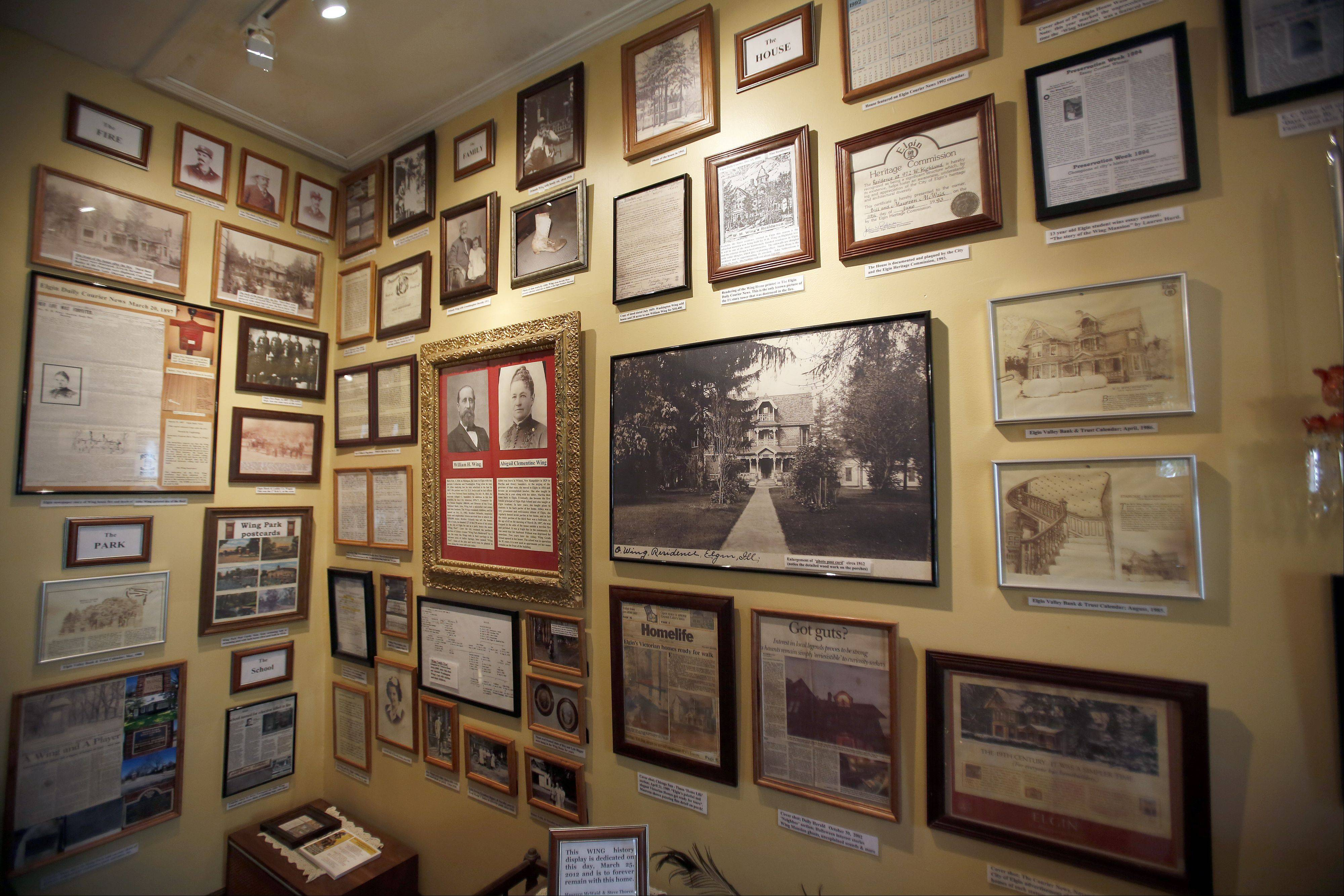 A wall of history about the Wing Mansion at 972 W. Highland Ave., Elgin, will be one of the stops on the 32nd annual Historic Elgin House Tour.