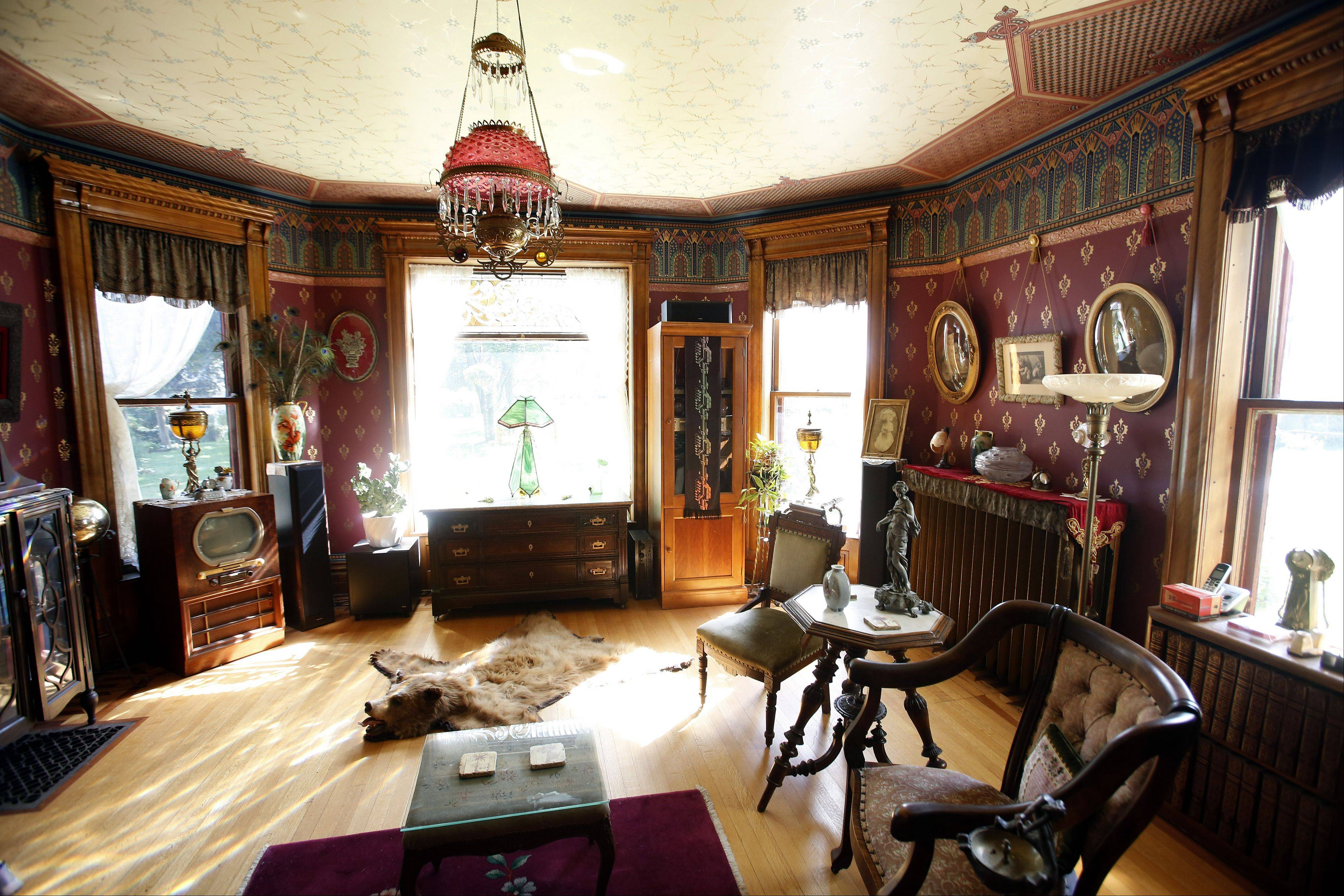 The front sitting room of the Wing Mansion at 972 W. Highland Ave., Elgin, will be one of the stops on the 32nd annual Historic House Tour.