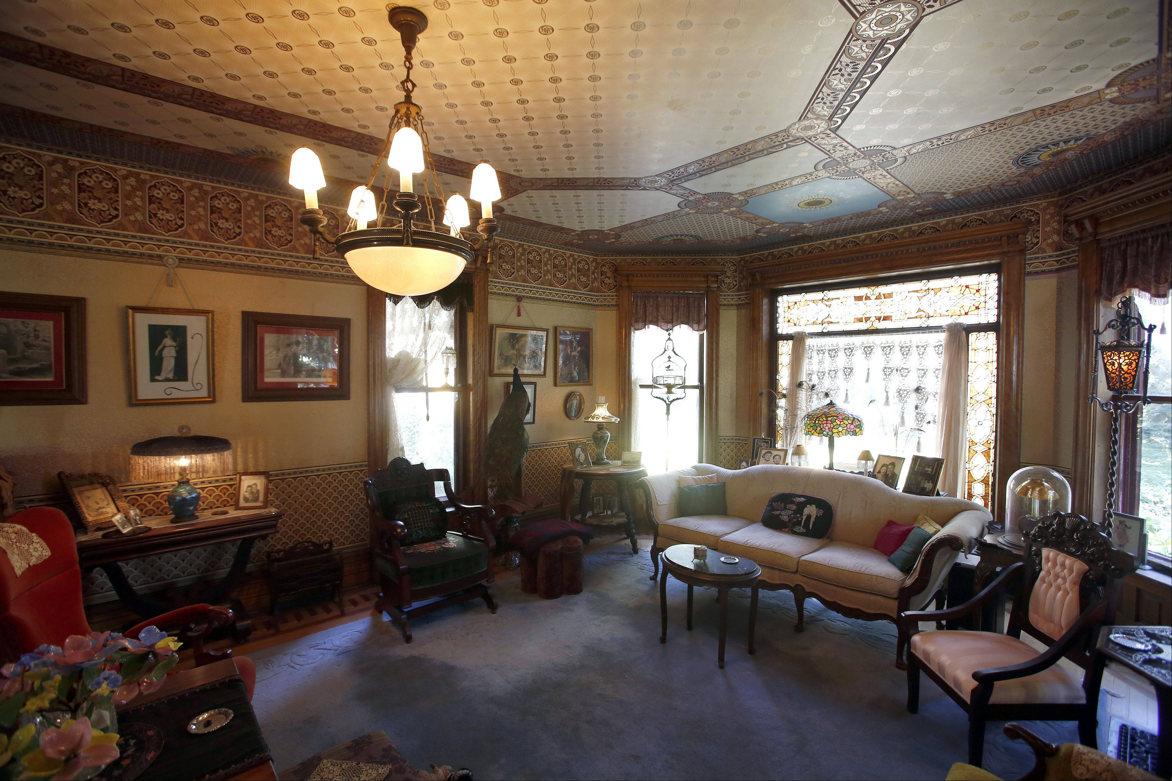 The living room of the Wing Mansion at 972 W. Highland, Elgin, will be one of the stops on the 32nd annual Historic Elgin House Tour.